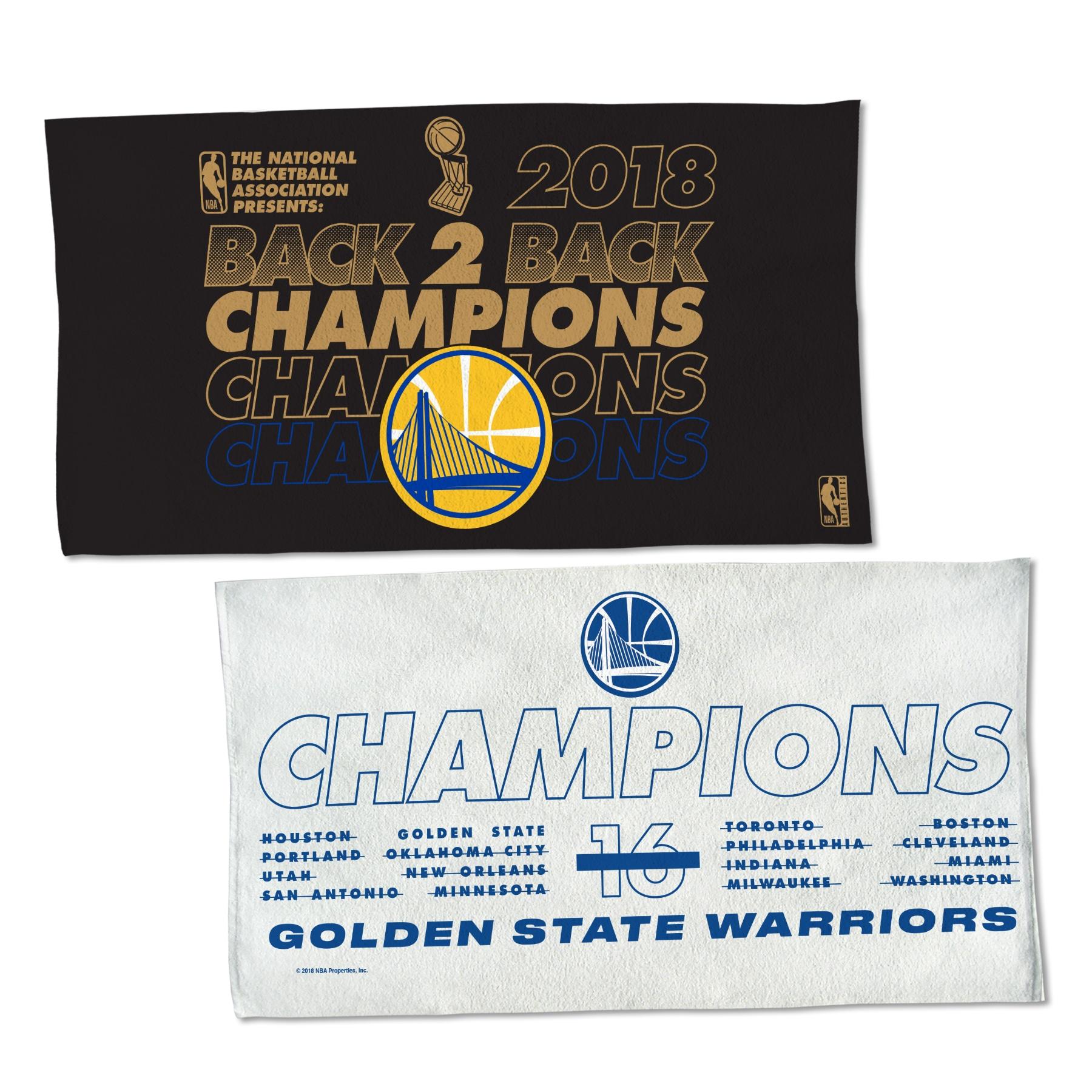 "Golden State Warriors WinCraft 2018 NBA Finals Champions 22"" x 42"" Locker Room On-Court Celebration Towel"