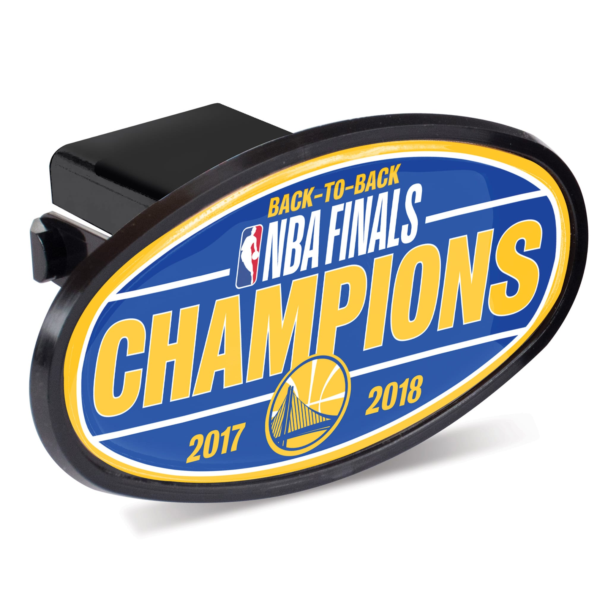 Golden State Warriors WinCraft 2018 NBA Finals Champions Oval Hitch Cover