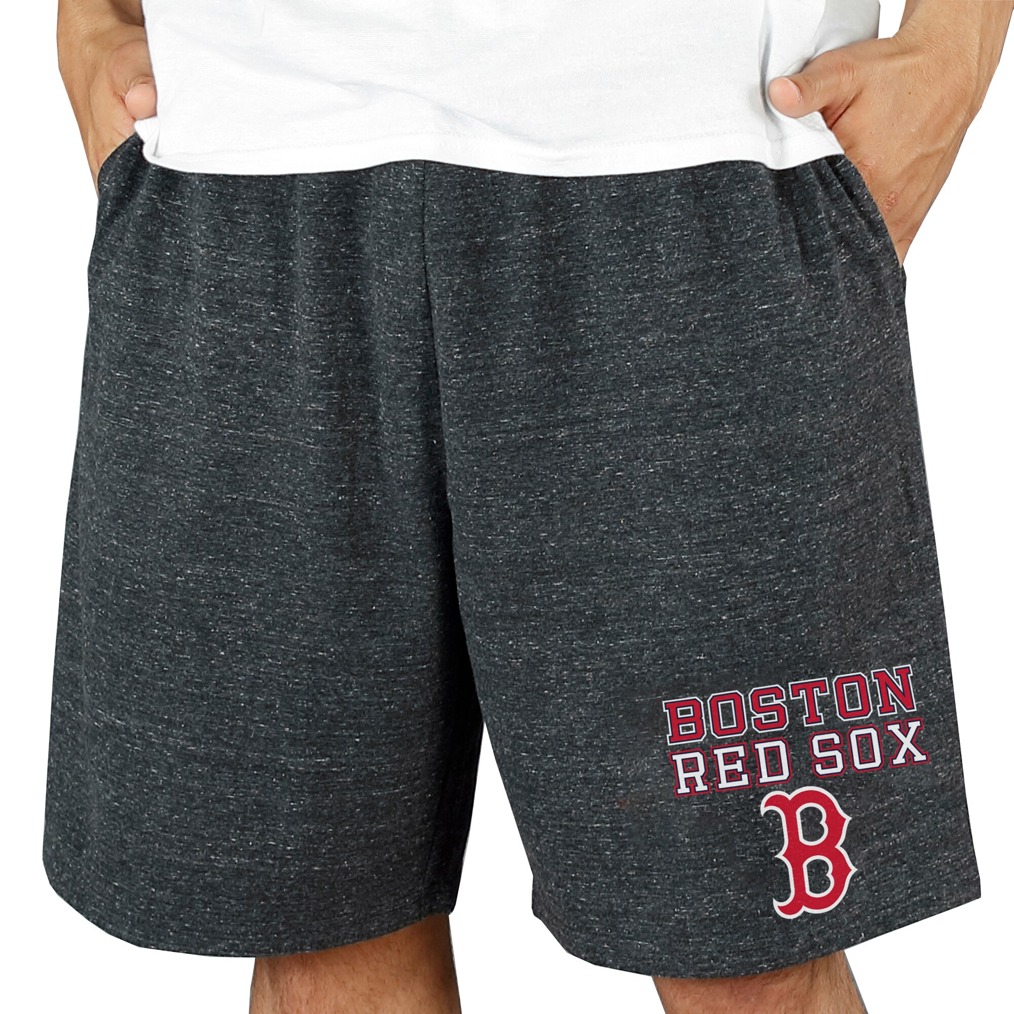 Boston Red Sox Concepts Sport Pitch Knit Jam Shorts - Charcoal