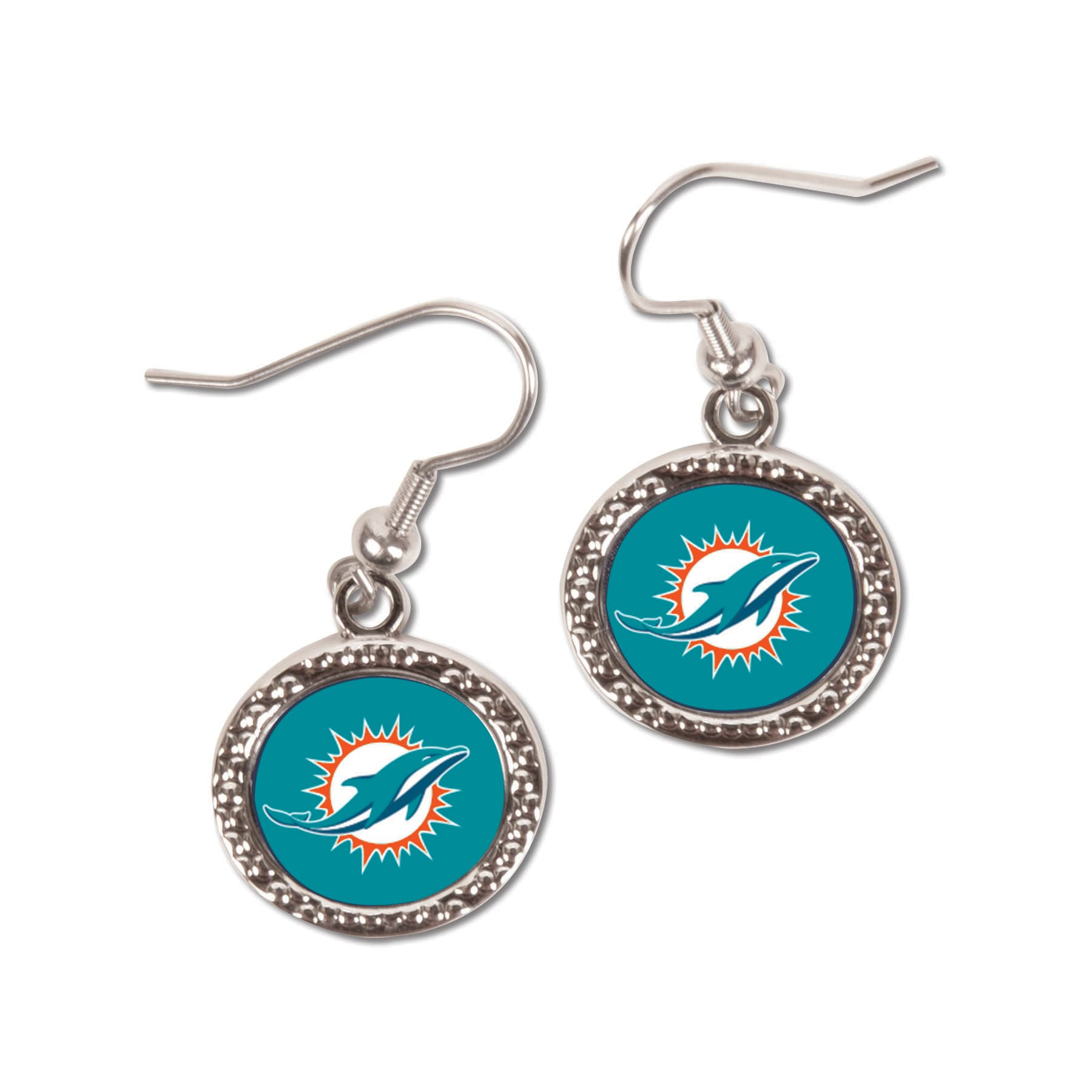 Miami Dolphins WinCraft Women's Round Dangle Earrings