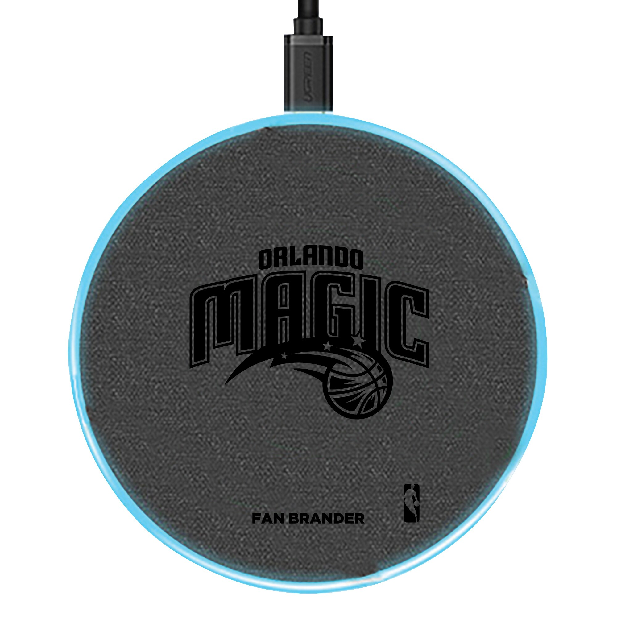 Orlando Magic 15W Laser Etched Wireless Charging Base - Gray