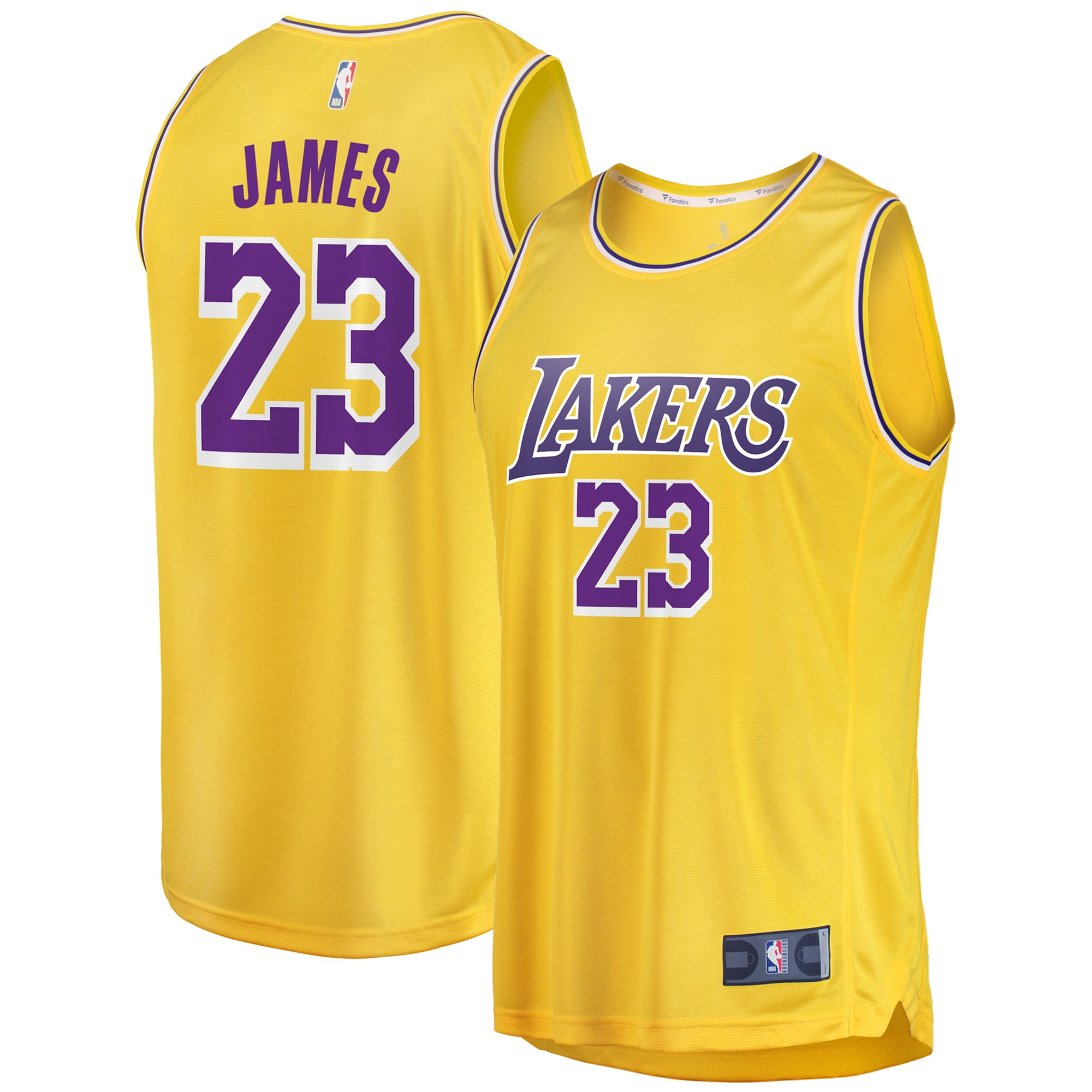 LeBron James Los Angeles Lakers Fanatics Branded Youth 2019/20 Fast Break Replica Jersey Gold - Icon Edition