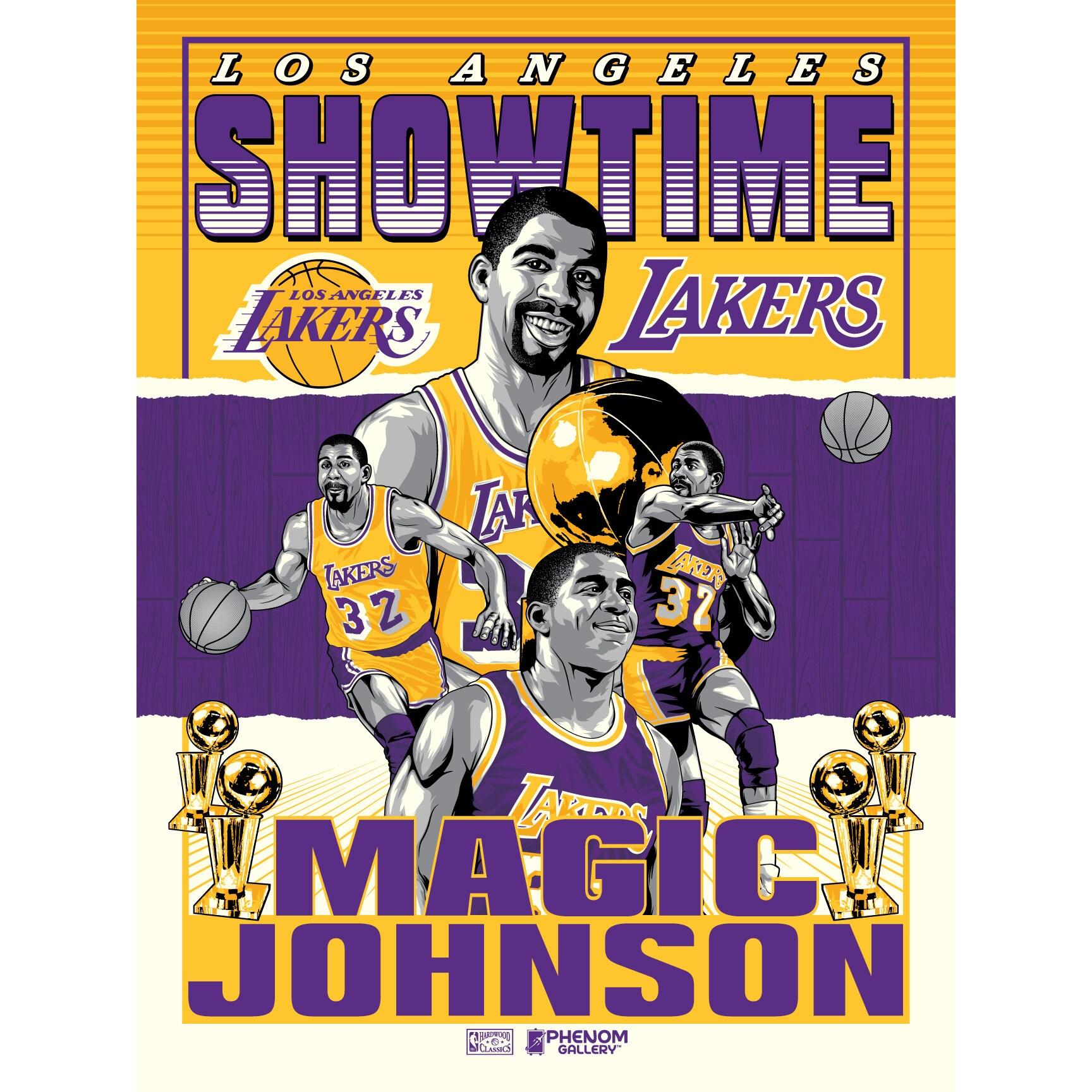 Magic Johnson Los Angeles Lakers 18'' x 24'' Serigraph