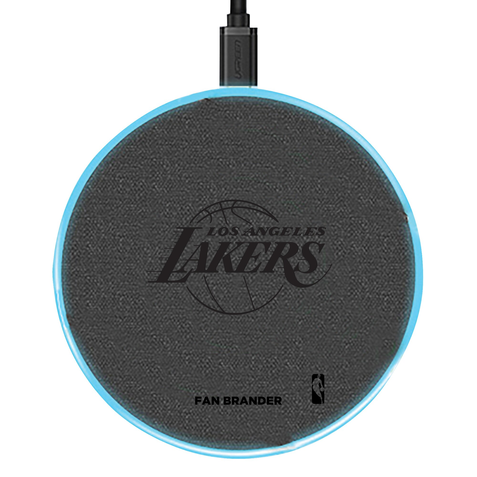 Los Angeles Lakers 15W Laser Etched Wireless Charging Base - Gray