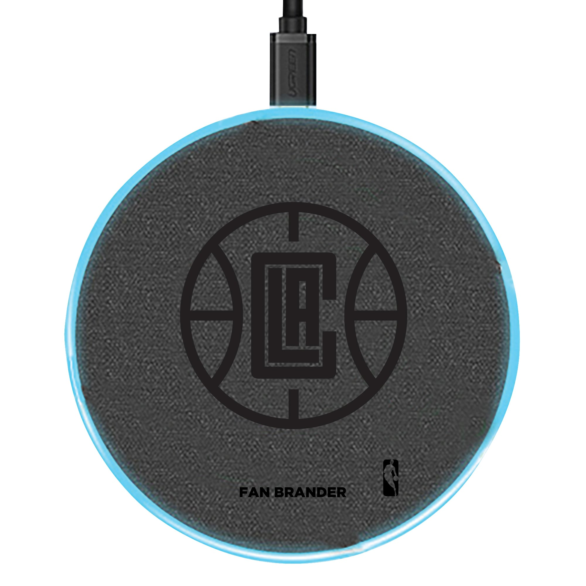 LA Clippers 15W Laser Etched Wireless Charging Base - Gray