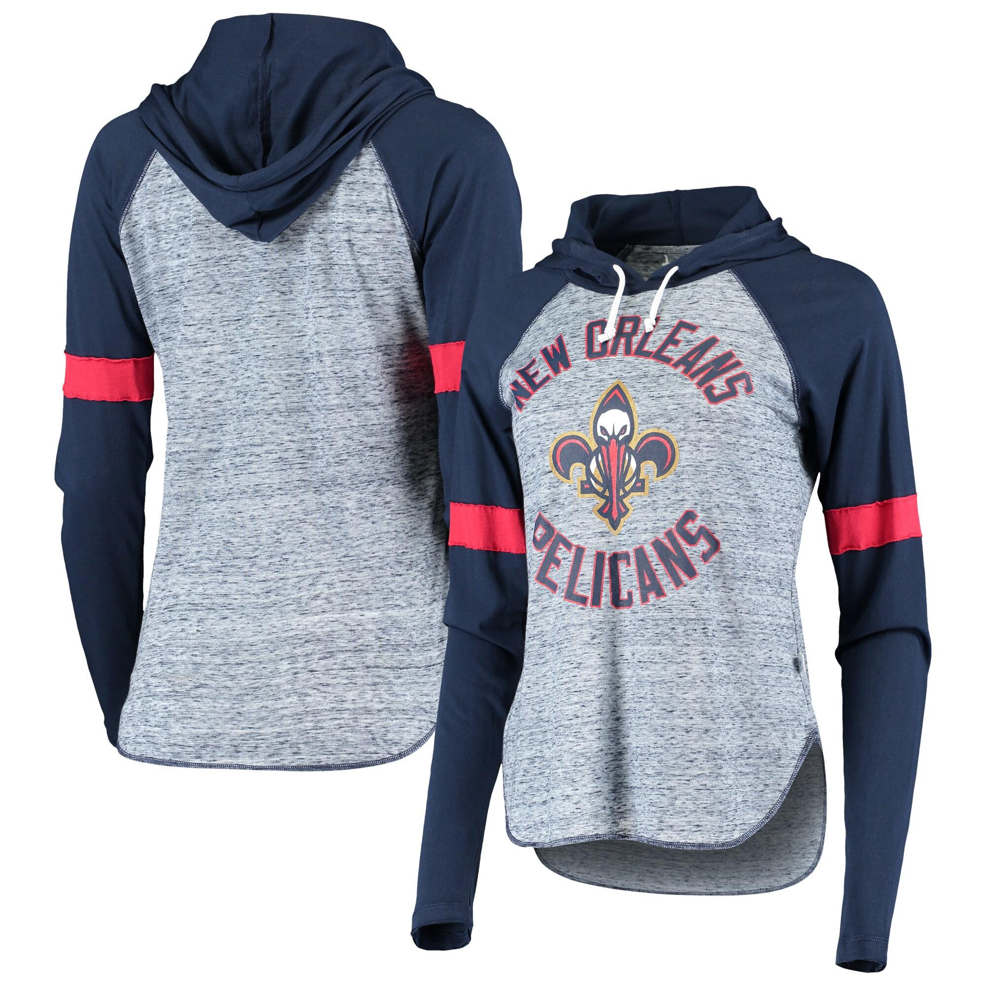 New Orleans Pelicans Touch Women's Season Opener Raglan Hoodie Long Sleeve T-Shirt - Navy
