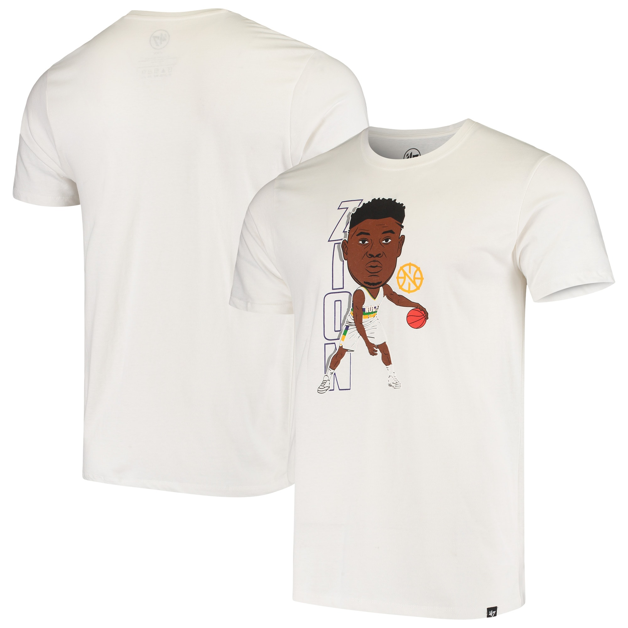 Zion Williamson New Orleans Pelicans '47 Bobblehead Player T-Shirt - White