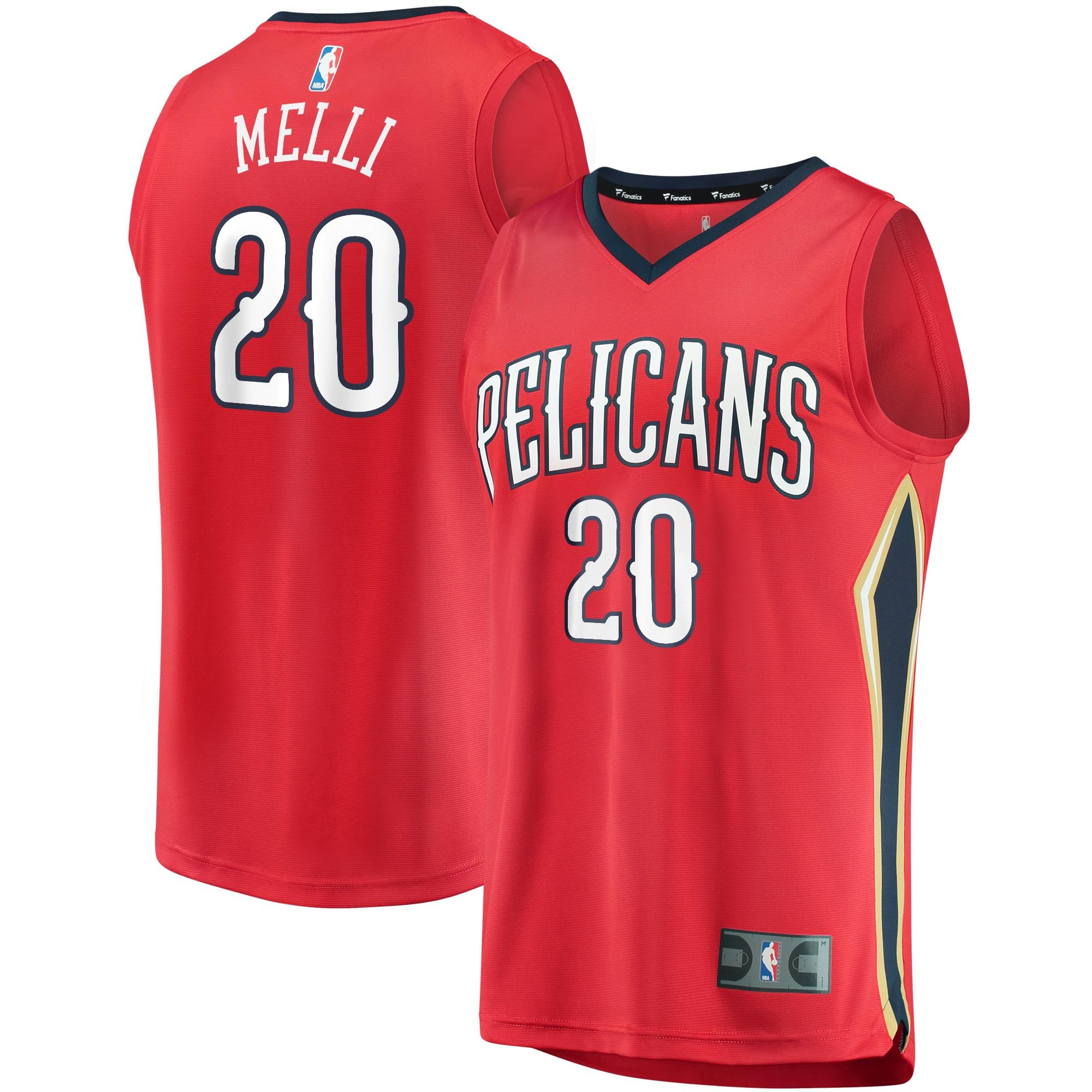 Nicolo Melli New Orleans Pelicans Fanatics Branded Fast Break Replica Player Jersey Red - Statement Edition