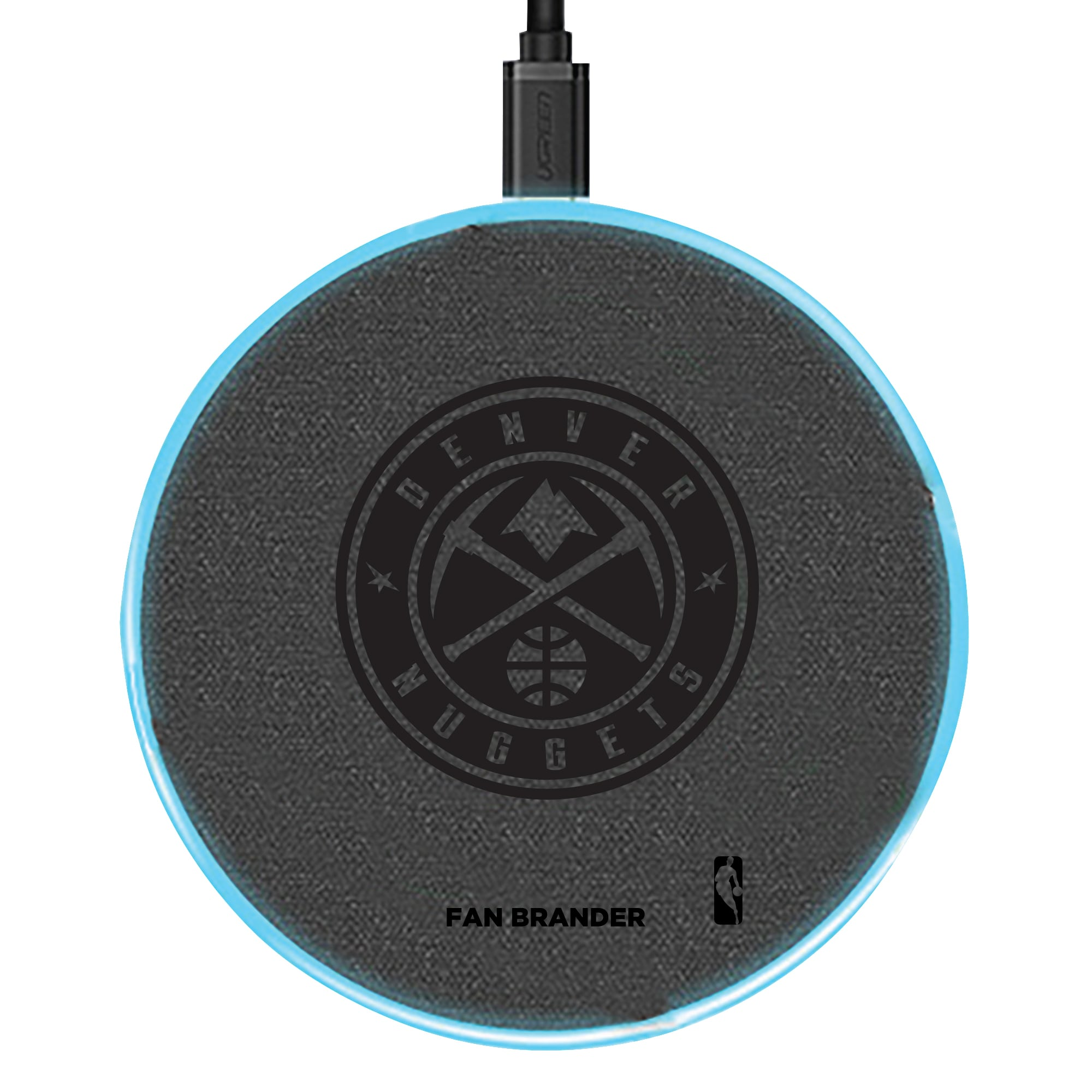 Denver Nuggets 15W Laser Etched Wireless Charging Base - Gray