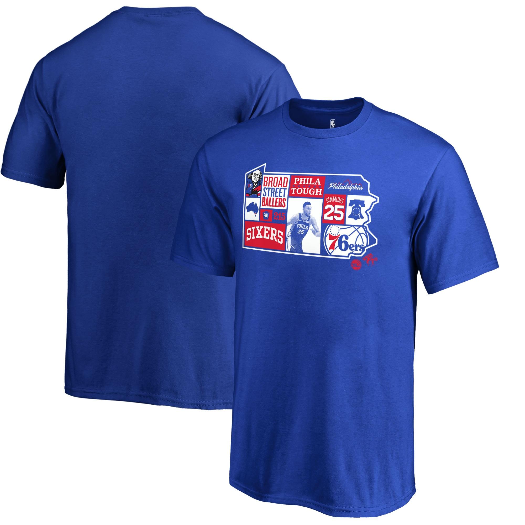 Ben Simmons Philadelphia 76ers Fanatics Branded Youth Player State T-Shirt - Royal