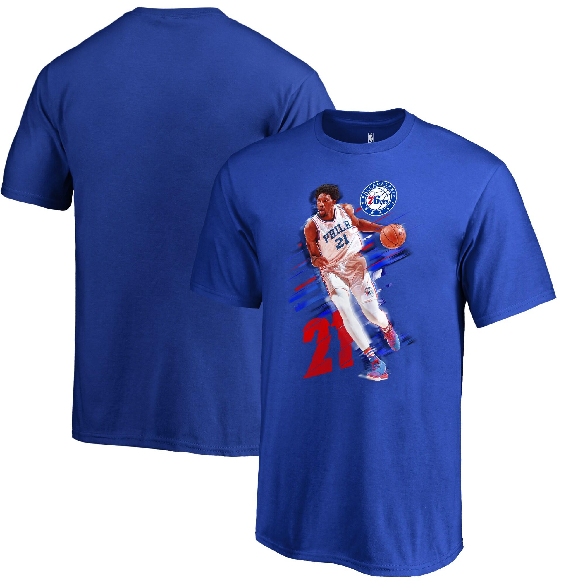 Joel Embiid Philadelphia 76ers Fanatics Branded Youth Fade Away T-Shirt - Royal