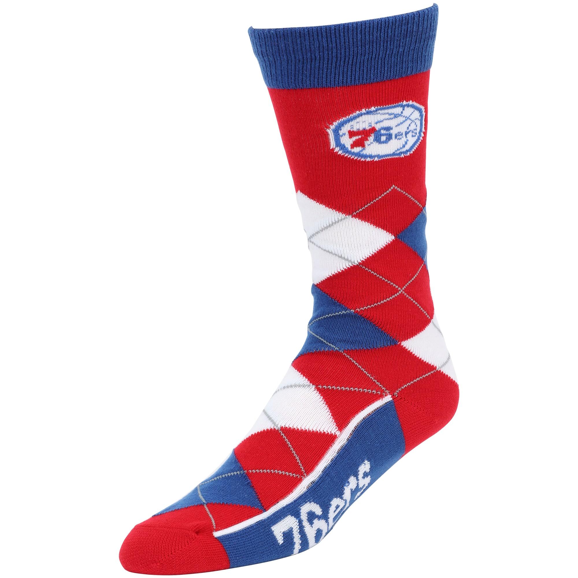 Philadelphia 76ers For Bare Feet Argyle Crew Socks