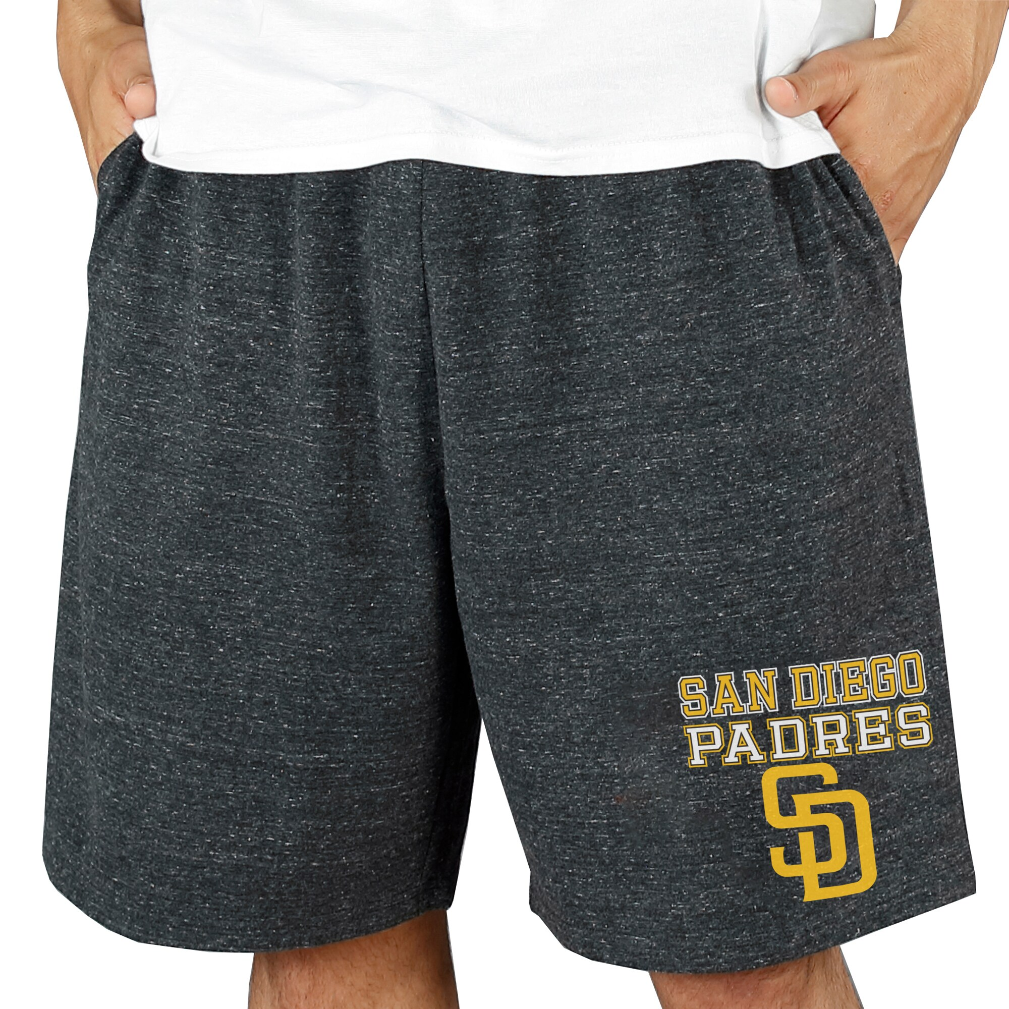 San Diego Padres Concepts Sport Pitch Knit Jam Shorts - Charcoal