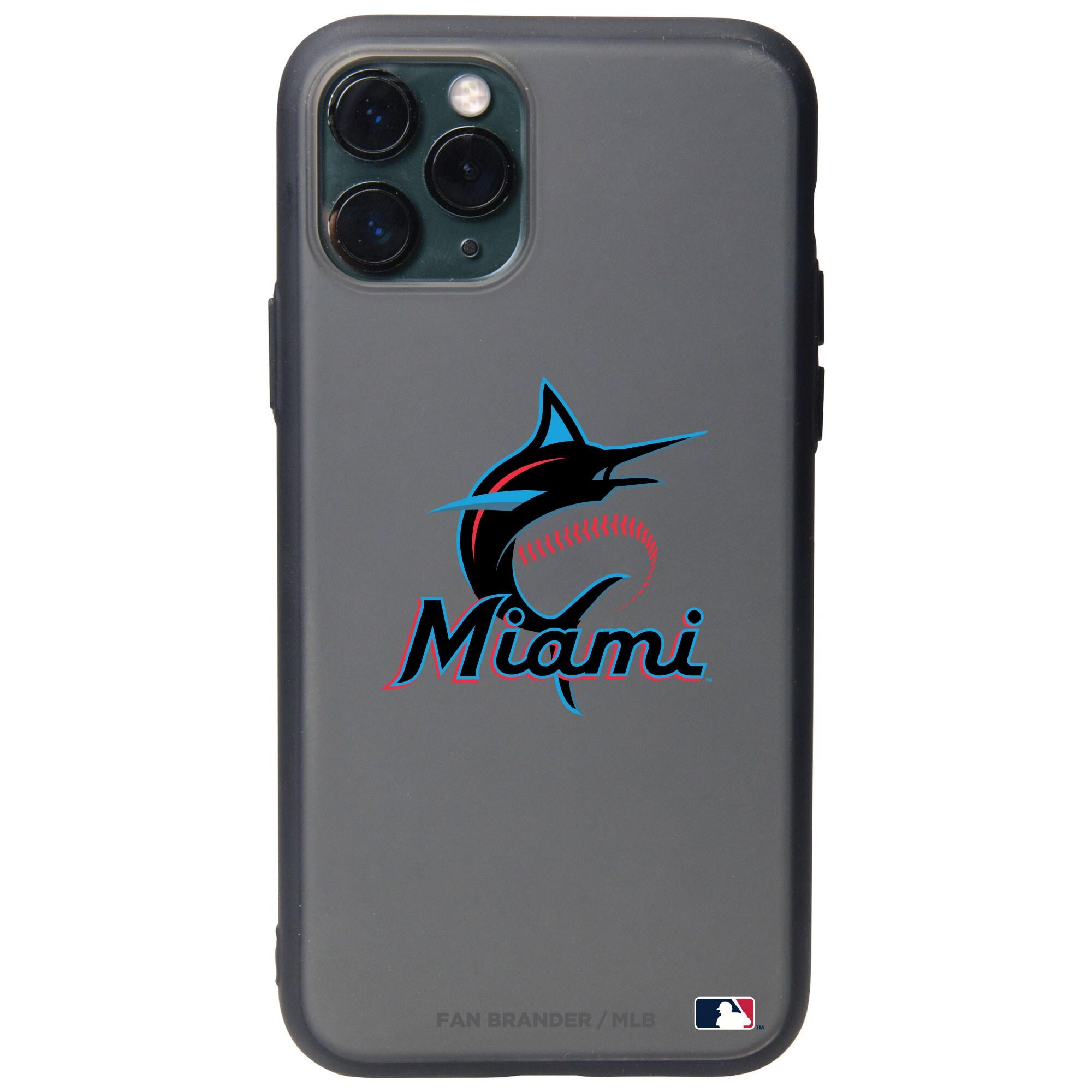 Miami Marlins Black Slate Primary Mark iPhone Case
