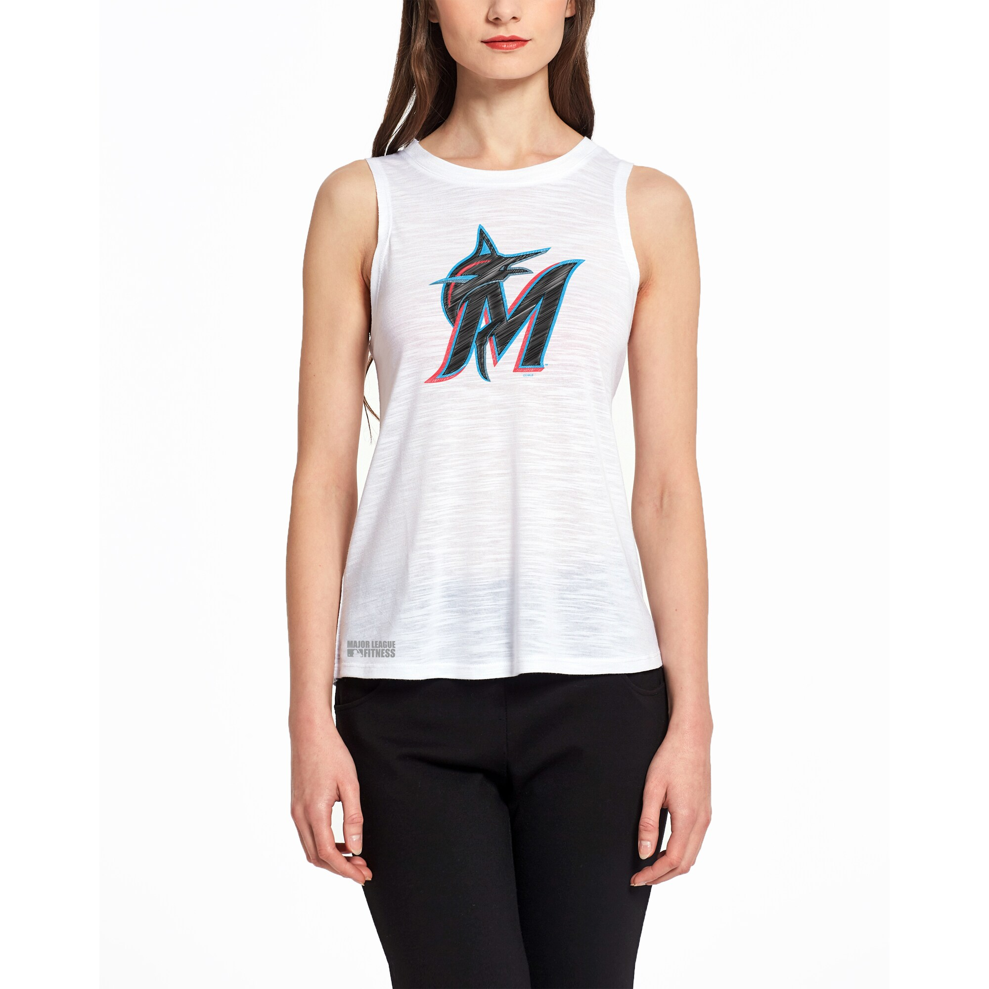 Miami Marlins Concepts Sport Women's Infuse Knit Tank Top - White
