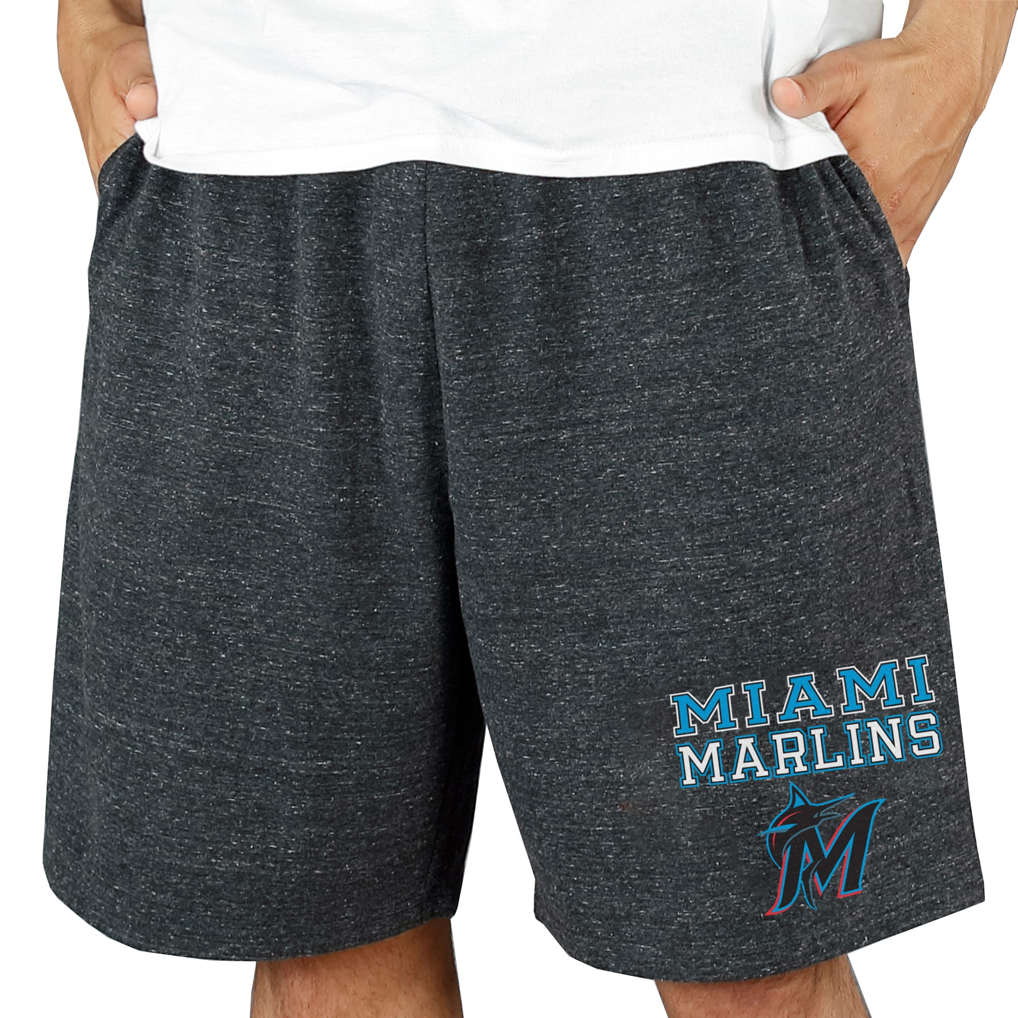 Miami Marlins Concepts Sport Pitch Knit Jam Shorts - Charcoal