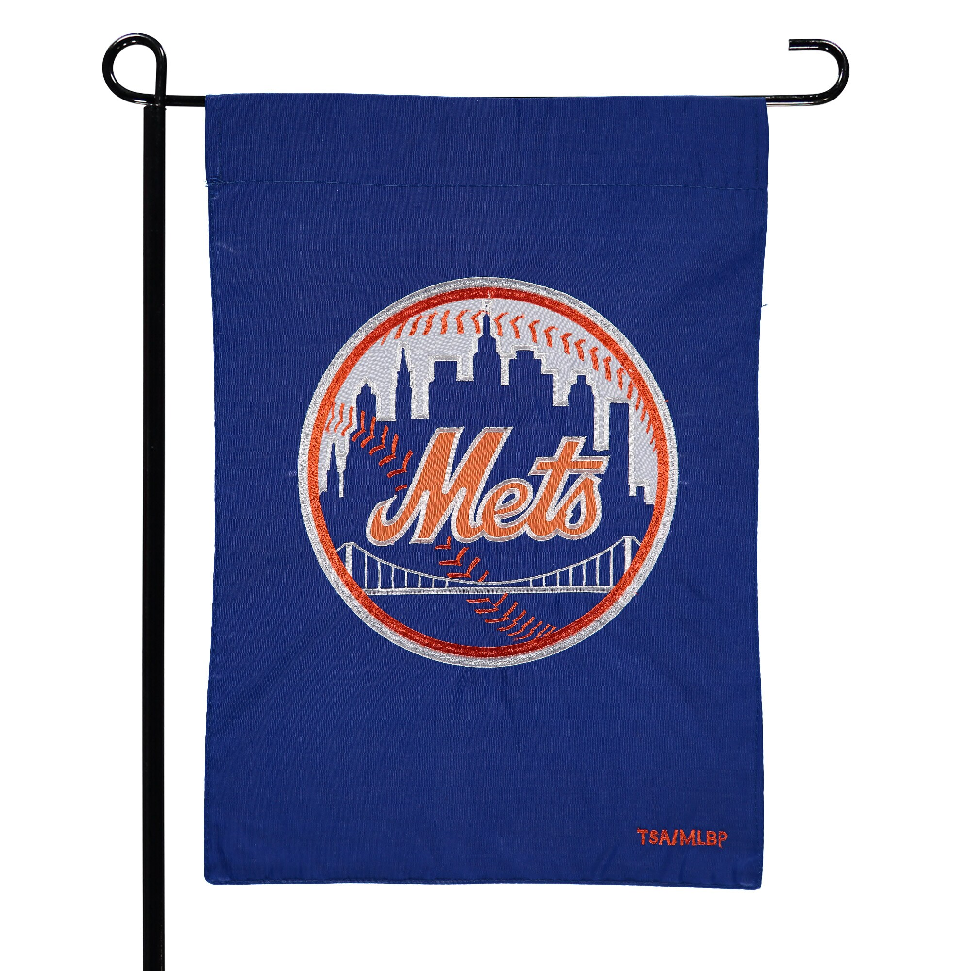 "New York Mets 12.5"" x 19"" Applique Double-Sided Garden Flag"
