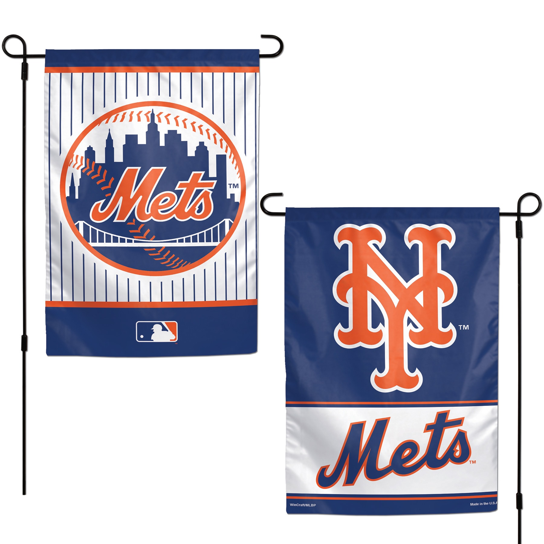 """New York Mets WinCraft 12"""" x 18"""" Double-Sided Garden Flag"""