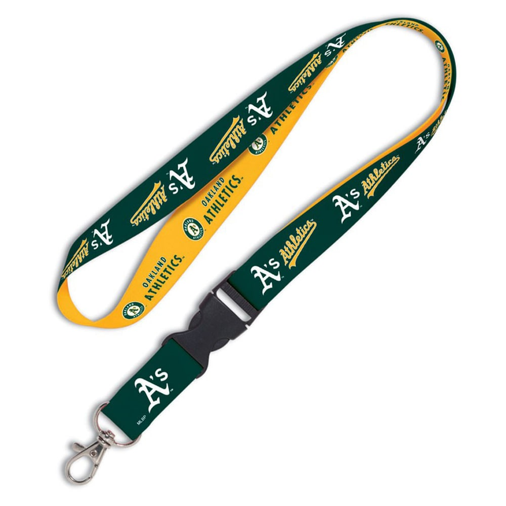 Oakland Athletics WinCraft Lanyard with Detachable Buckle