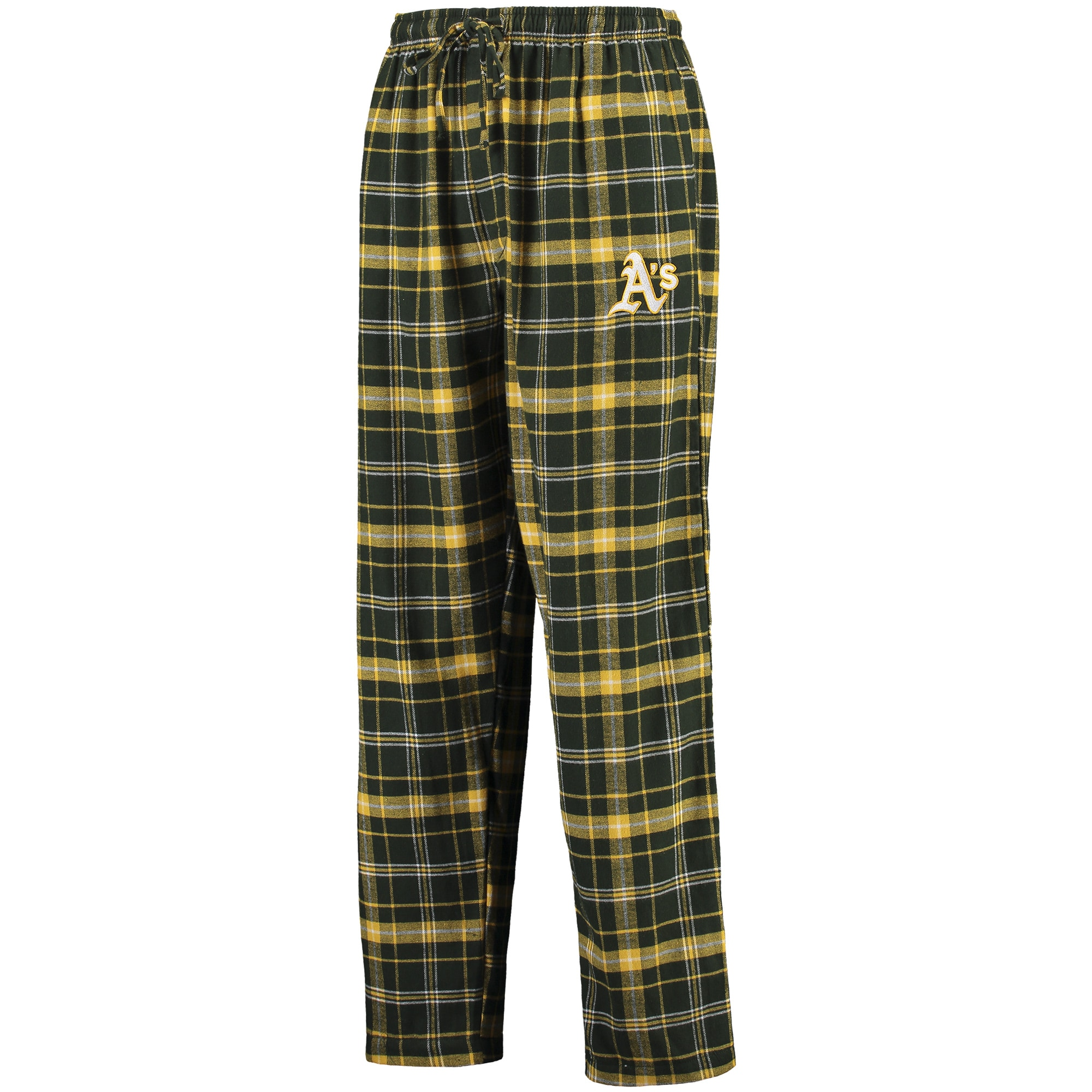 Oakland Athletics Concepts Sport Ultimate Plaid Flannel Pants - Green/Gold