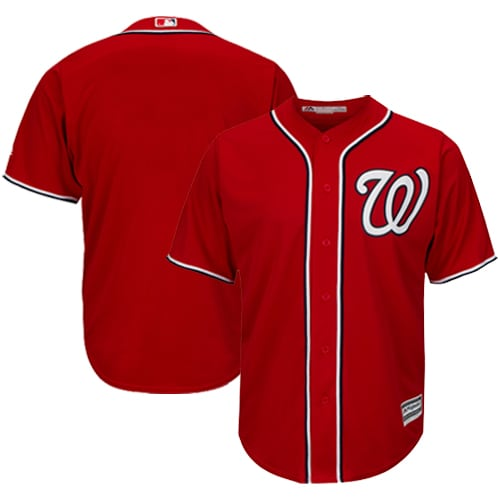 Washington Nationals Majestic Official Cool Base Jersey - Red