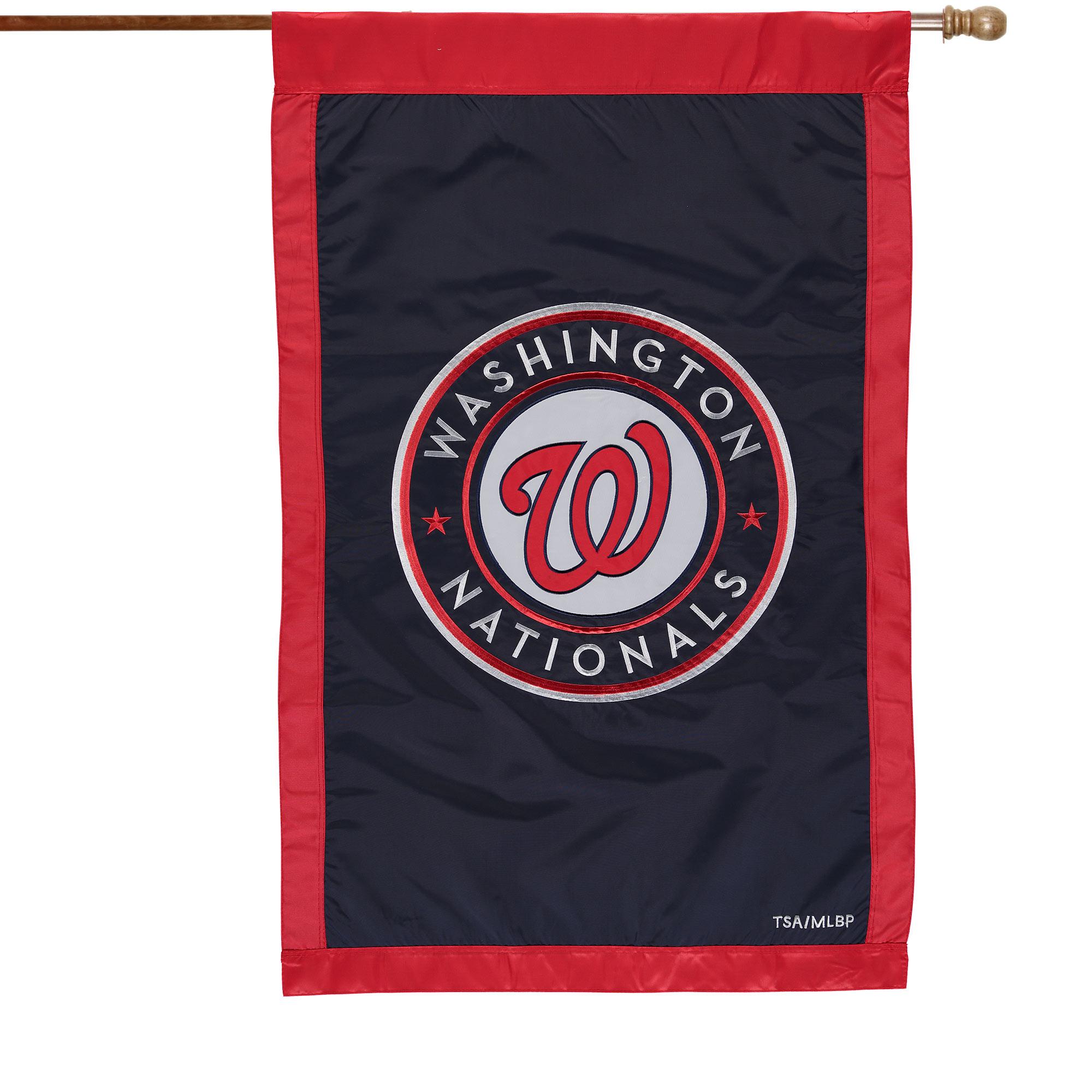 "Washington Nationals 28"" x 44"" Applique Double-Sided House Flag"