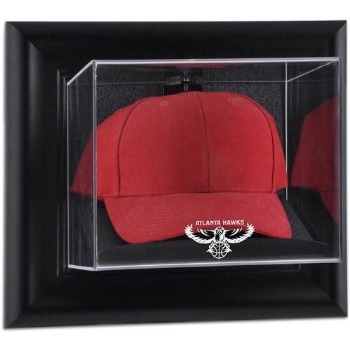 Atlanta Hawks Fanatics Authentic Black Framed Wall-Mounted Hardwood Classics 2007 - 2015 Logo Cap Display Case