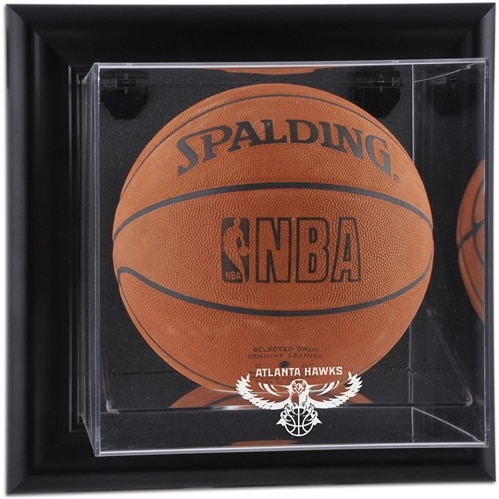 Atlanta Hawks Fanatics Authentic Black Framed Wall-Mounted Hardwood Classics 2007 - 2015 Logo Basketball Display Case