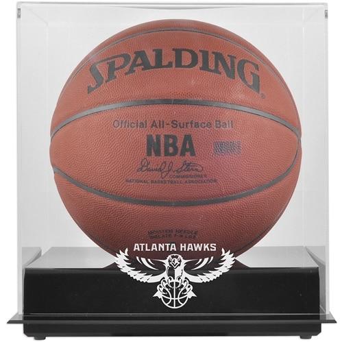 Atlanta Hawks Fanatics Authentic Blackbase Hardwood Classics 2007 - 2015 Logo Basketball Display Case with Mirrored Back
