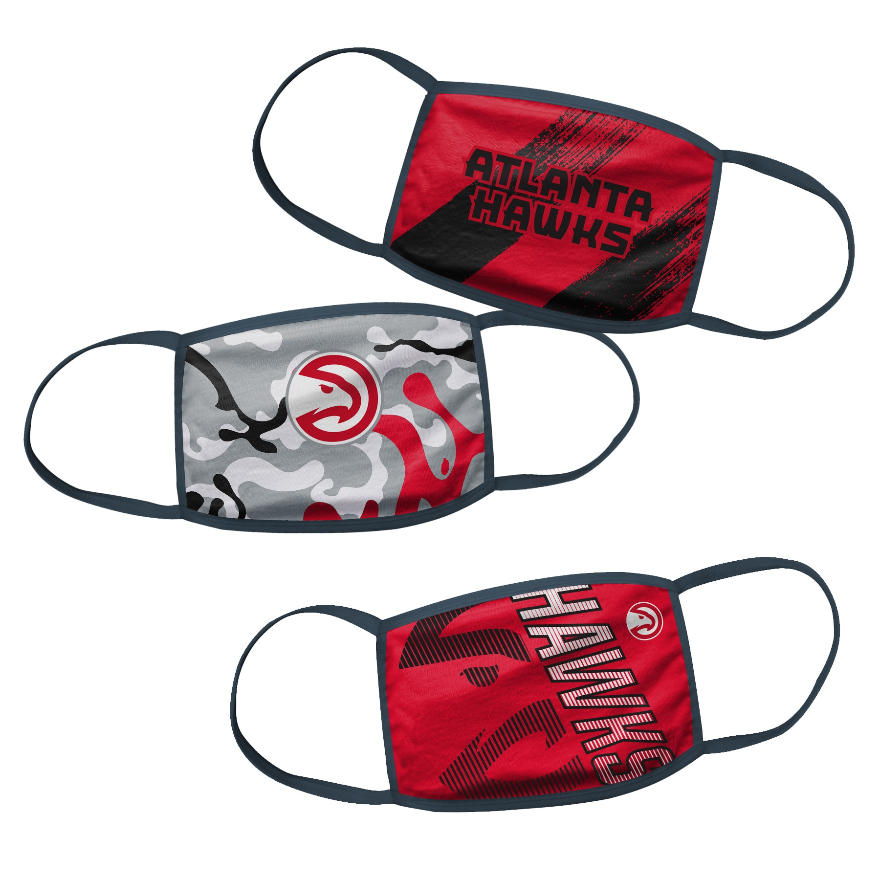 Atlanta Hawks Youth Face Covering 3-Pack