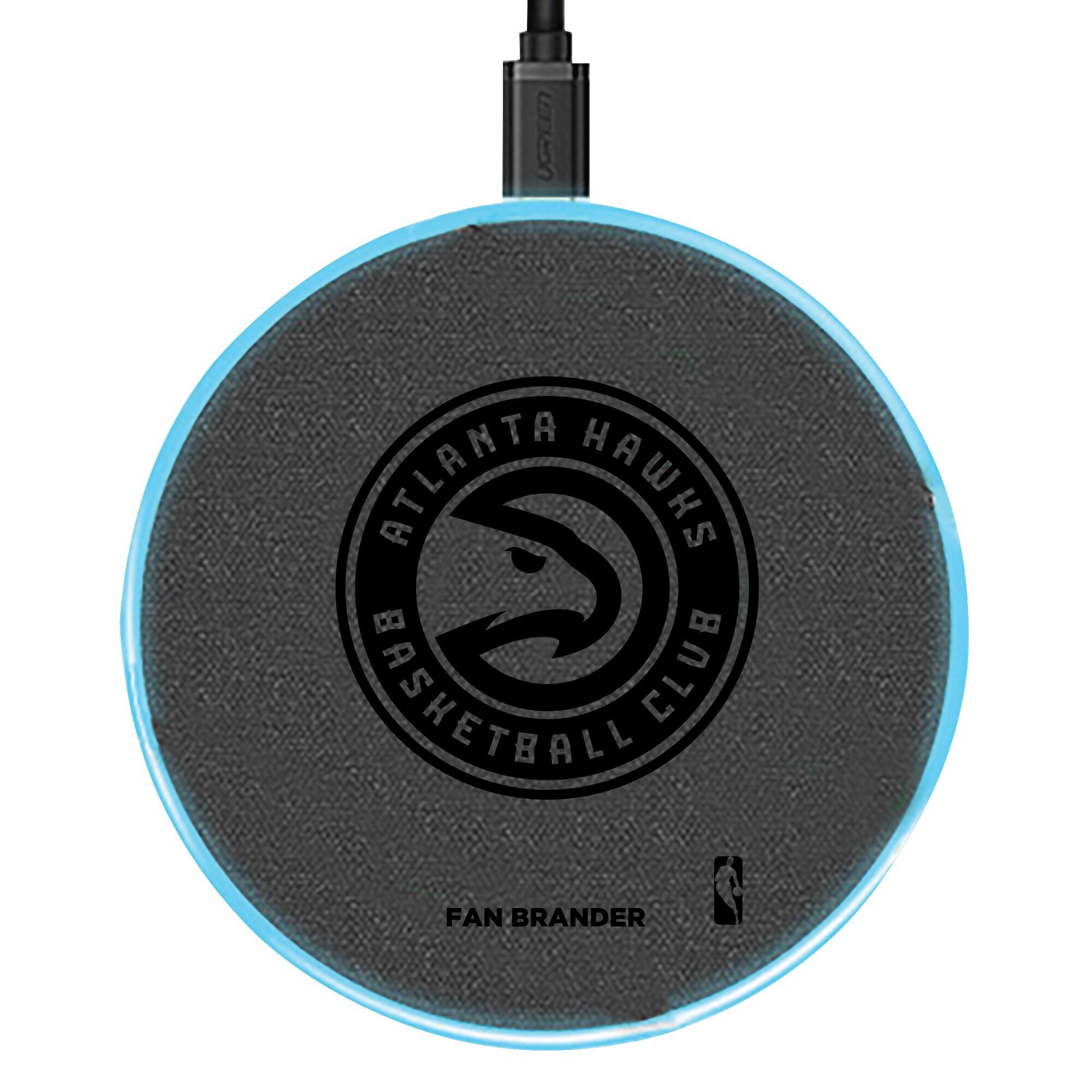 Atlanta Hawks 15W Laser Etched Wireless Charging Base - Gray