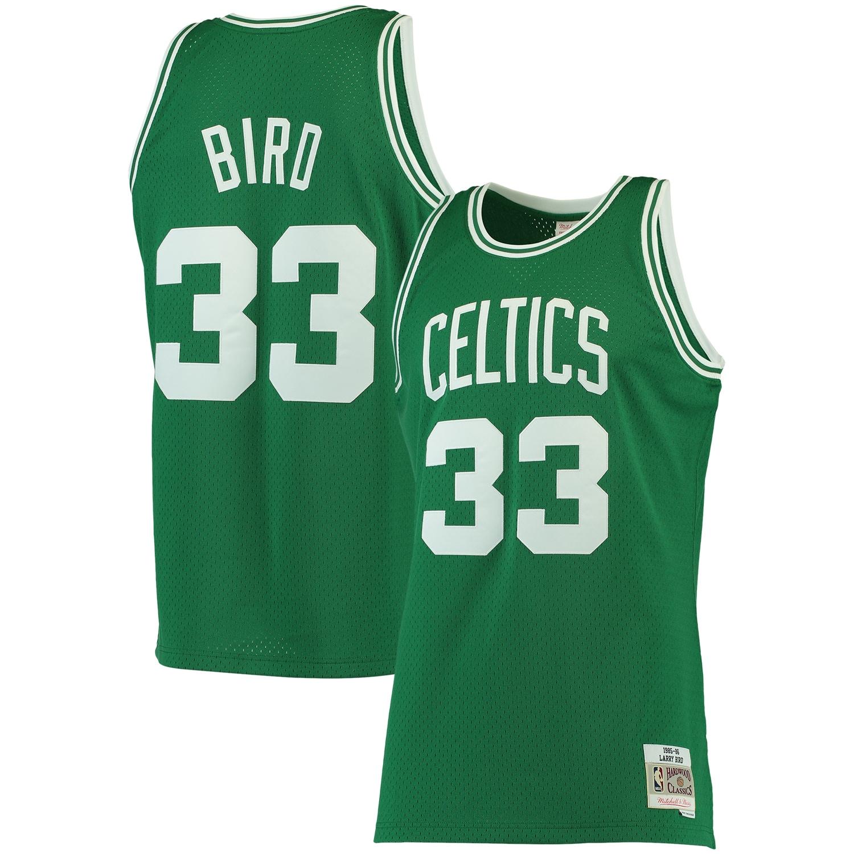 Larry Bird Boston Celtics Mitchell & Ness Big & Tall Hardwood Classics Jersey - Kelly Green