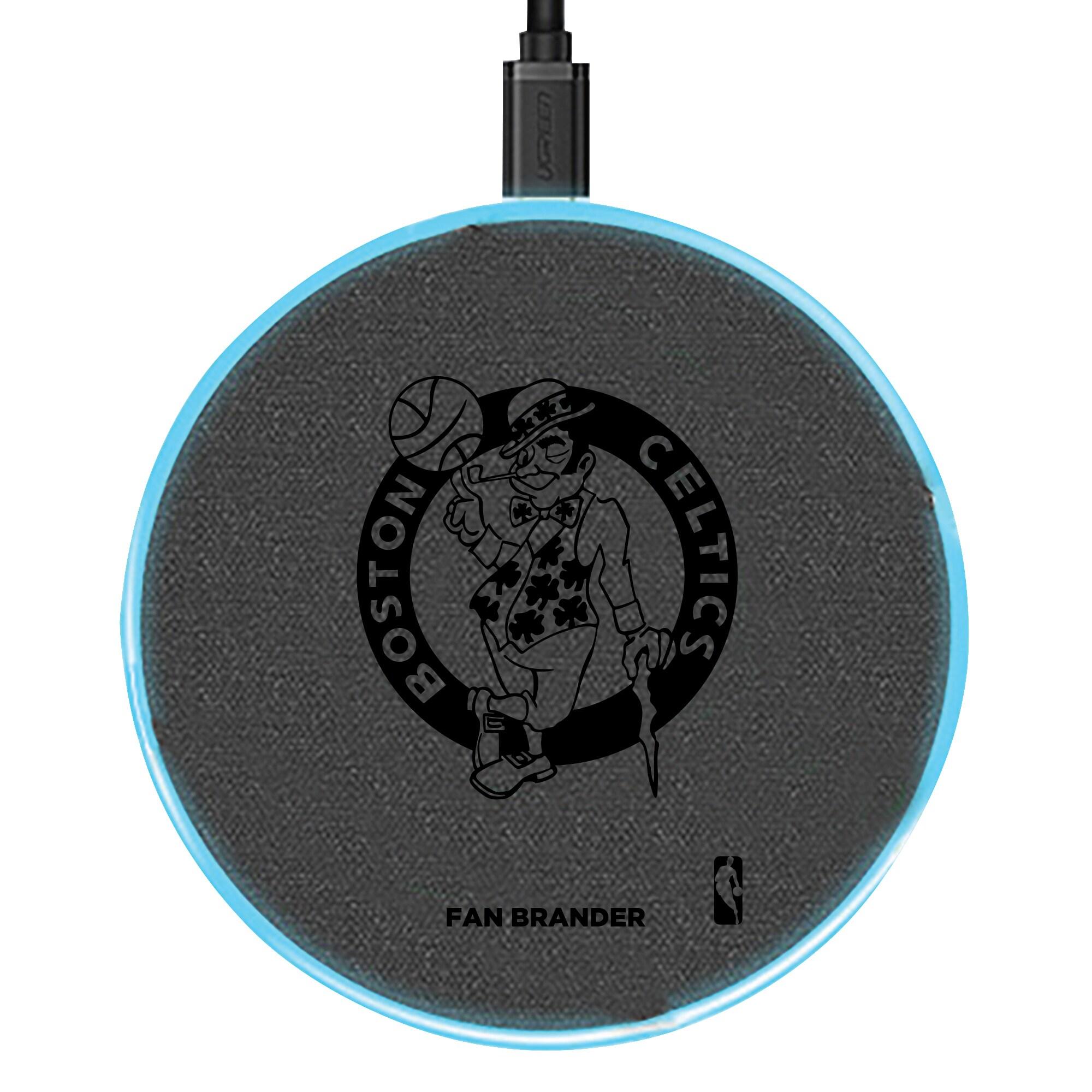 Boston Celtics 15W Laser Etched Wireless Charging Base - Gray