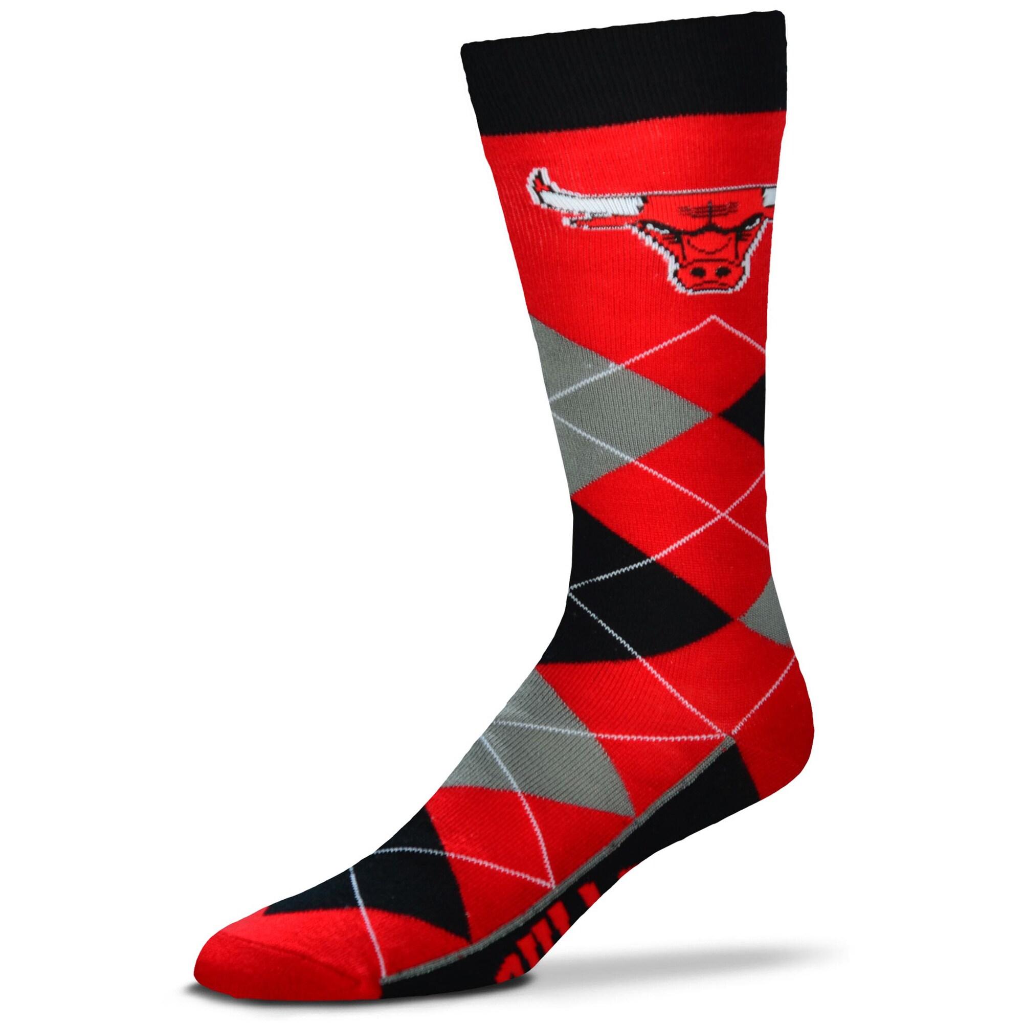 Chicago Bulls For Bare Feet Argyle Crew Socks