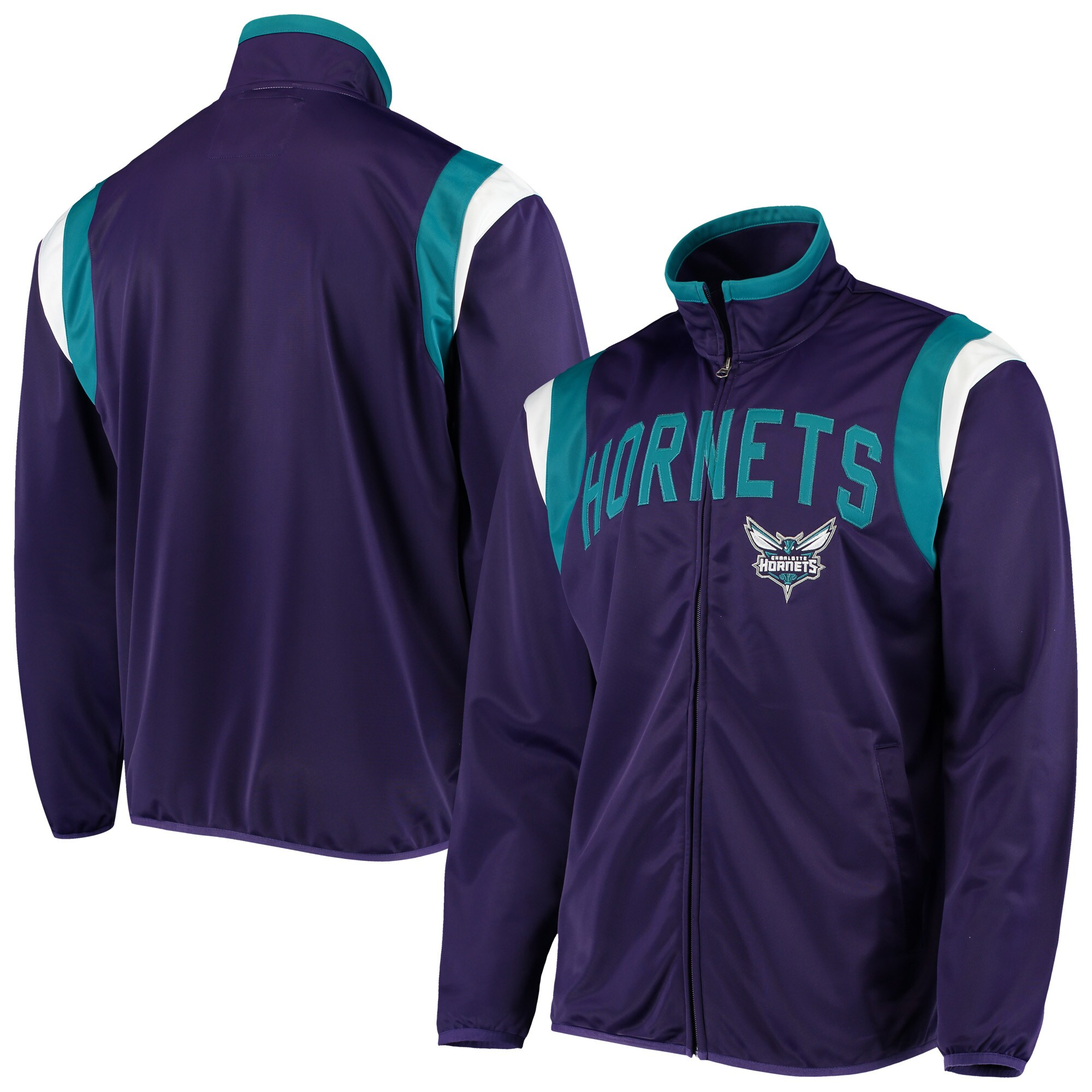 Charlotte Hornets G-III Sports by Carl Banks Post Up Tricot Full-Zip Track Jacket - Purple