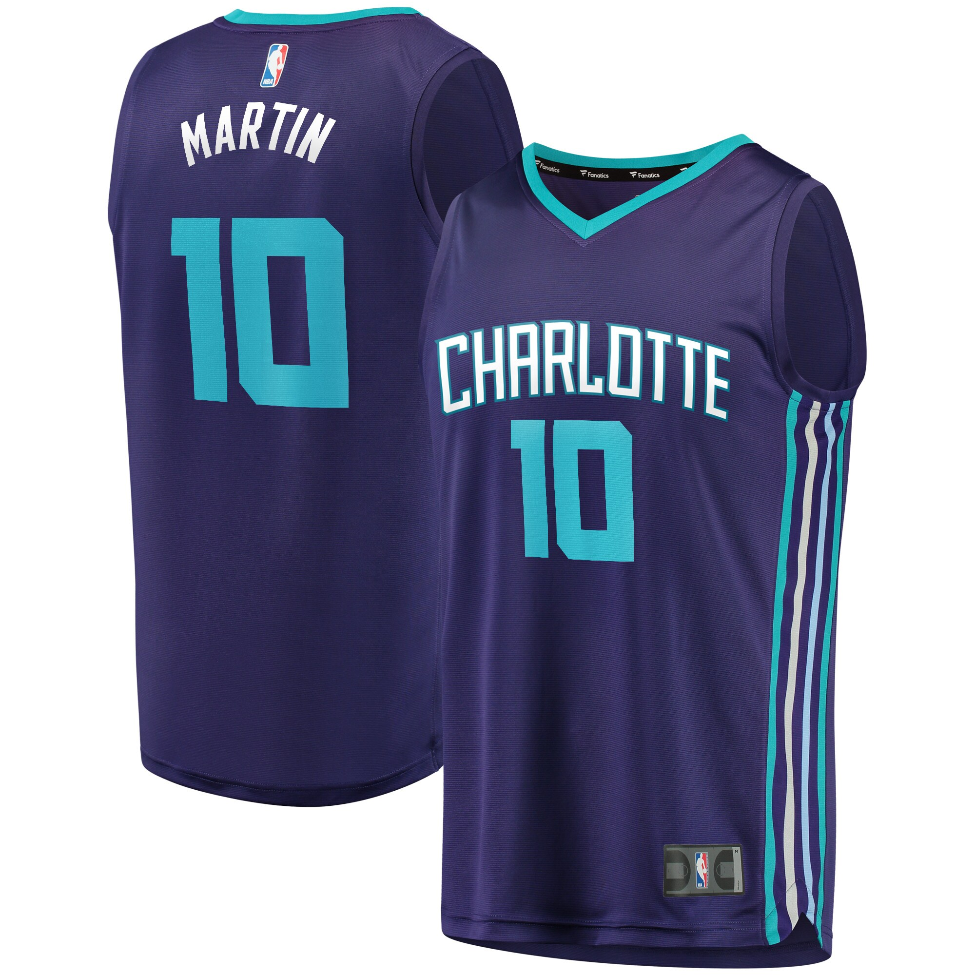 Caleb Martin Charlotte Hornets Fanatics Branded Youth Fast Break Player Jersey - Statement Edition - Purple