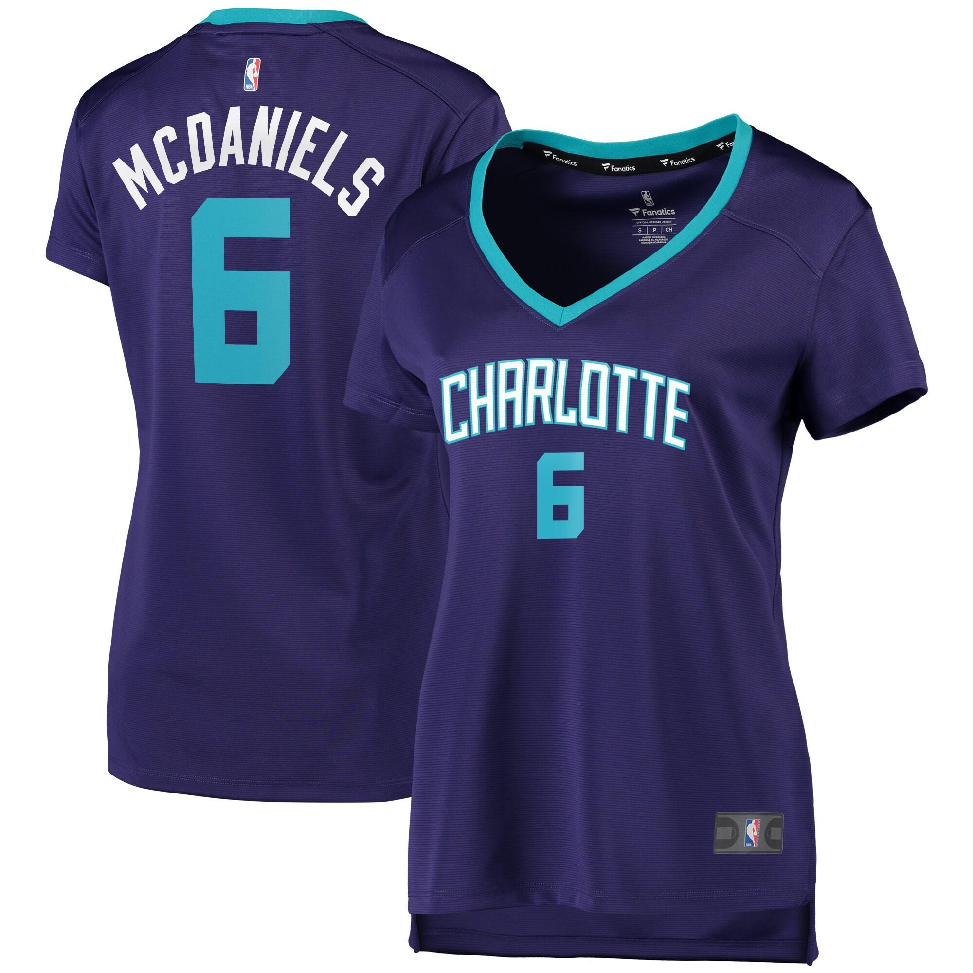 Jalen McDaniels Charlotte Hornets Fanatics Branded Women's Fast Break Player Jersey - Statement Edition - Purple
