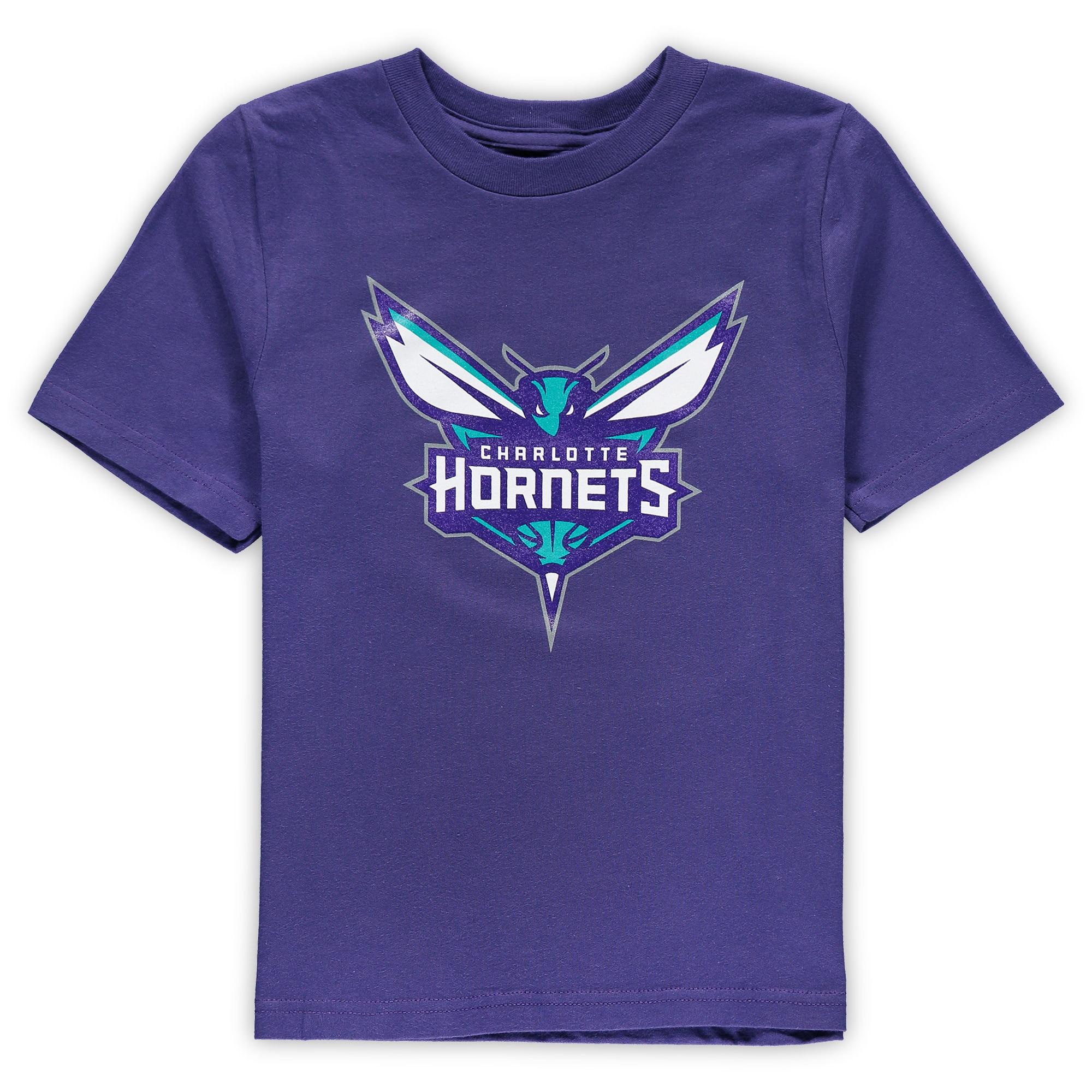 Charlotte Hornets Preschool Primary Team Logo T-Shirt - Purple