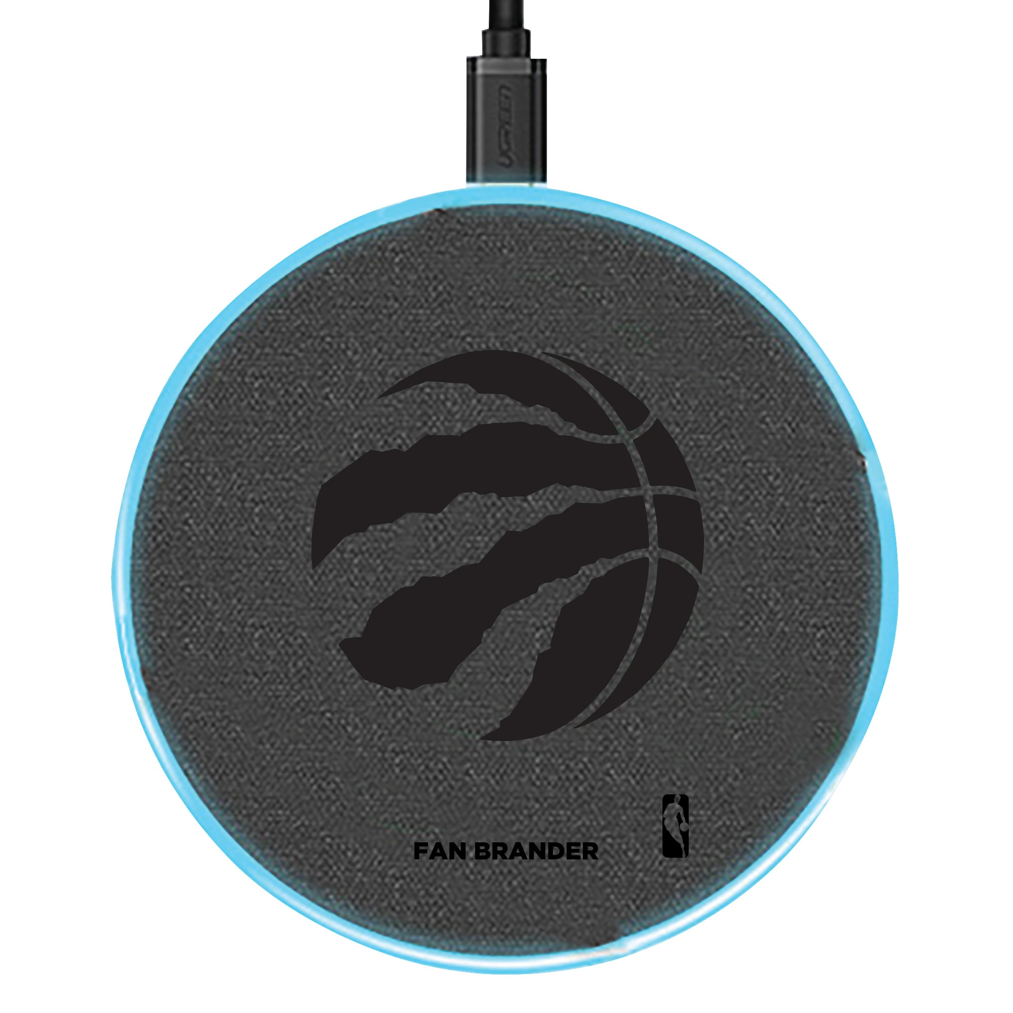 Toronto Raptors 15W Laser Etched Wireless Charging Base - Gray