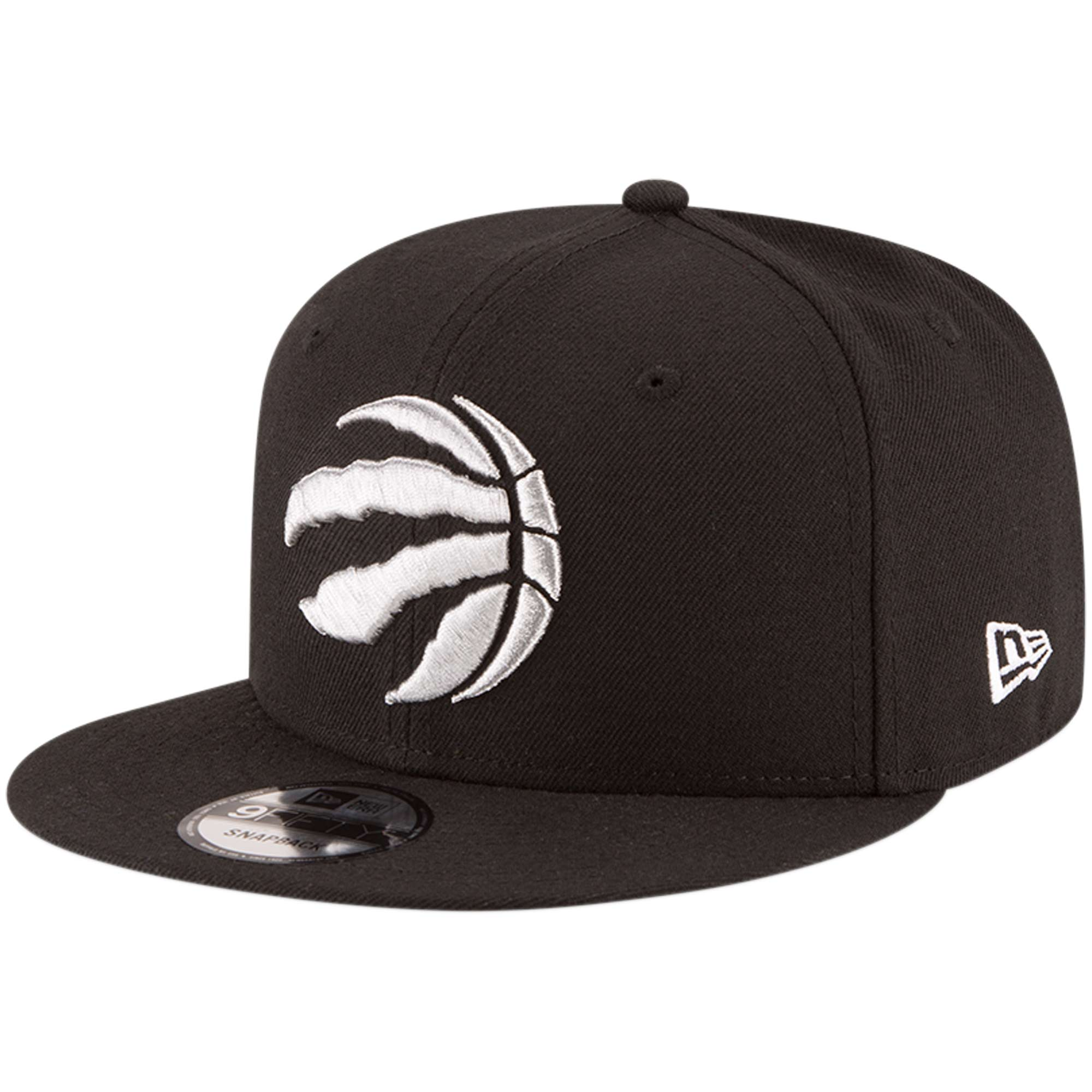 Toronto Raptors New Era Official Team Color 9FIFTY Adjustable Snapback Hat - Black