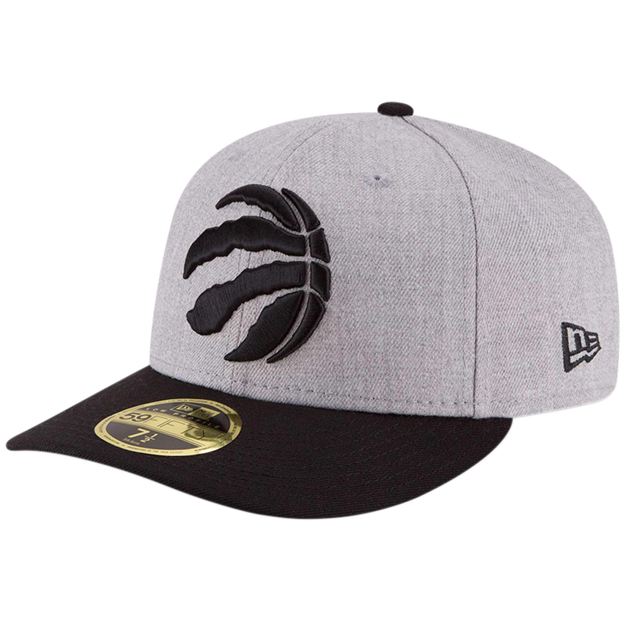 Toronto Raptors New Era Two-Tone Low Profile 59FIFTY Fitted Hat - Heathered Gray/Black