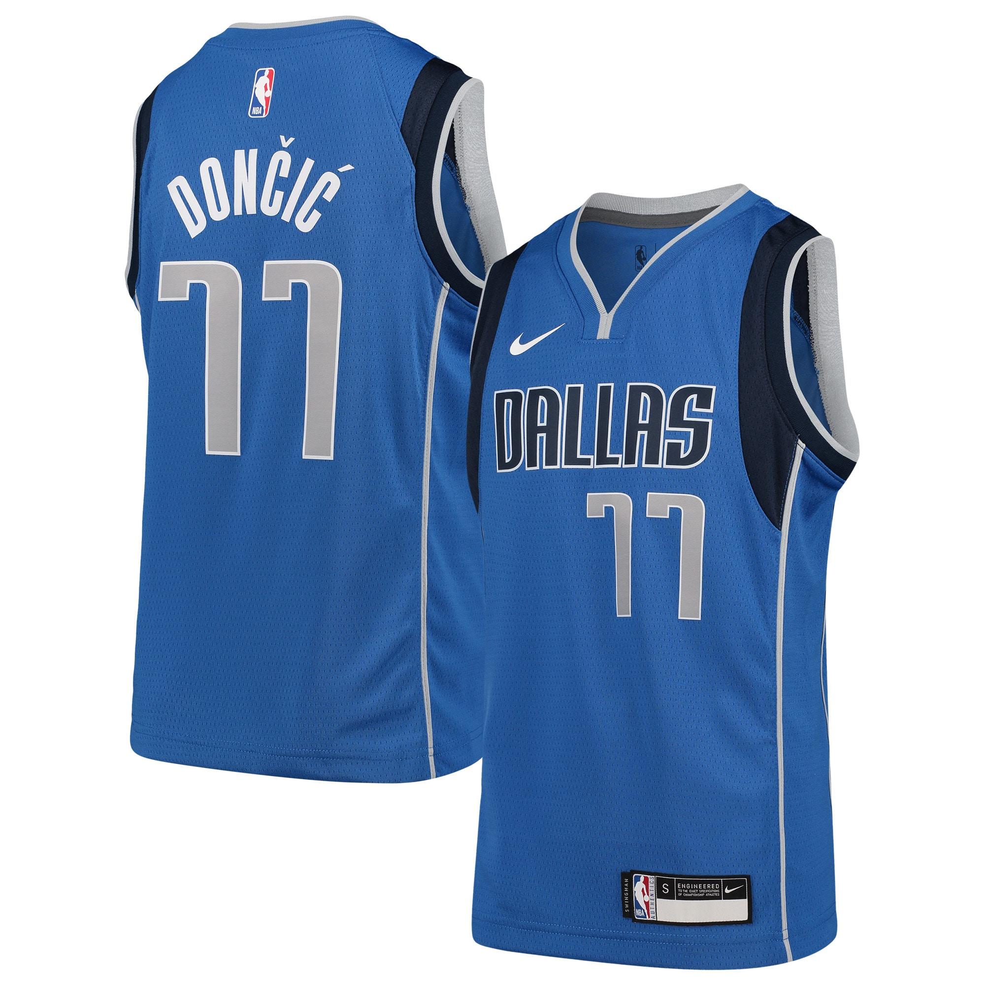 Luka Doncic Dallas Mavericks Nike Youth Swingman Jersey Blue - Icon Edition