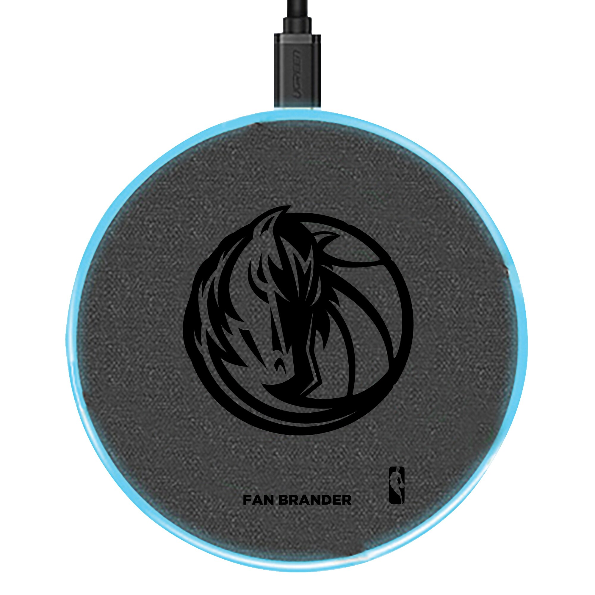 Dallas Mavericks 15W Laser Etched Wireless Charging Base - Gray