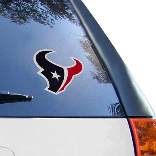 Houston Texans 6'' x 6'' Logo Die-Cut Repositionable Vinyl Decal