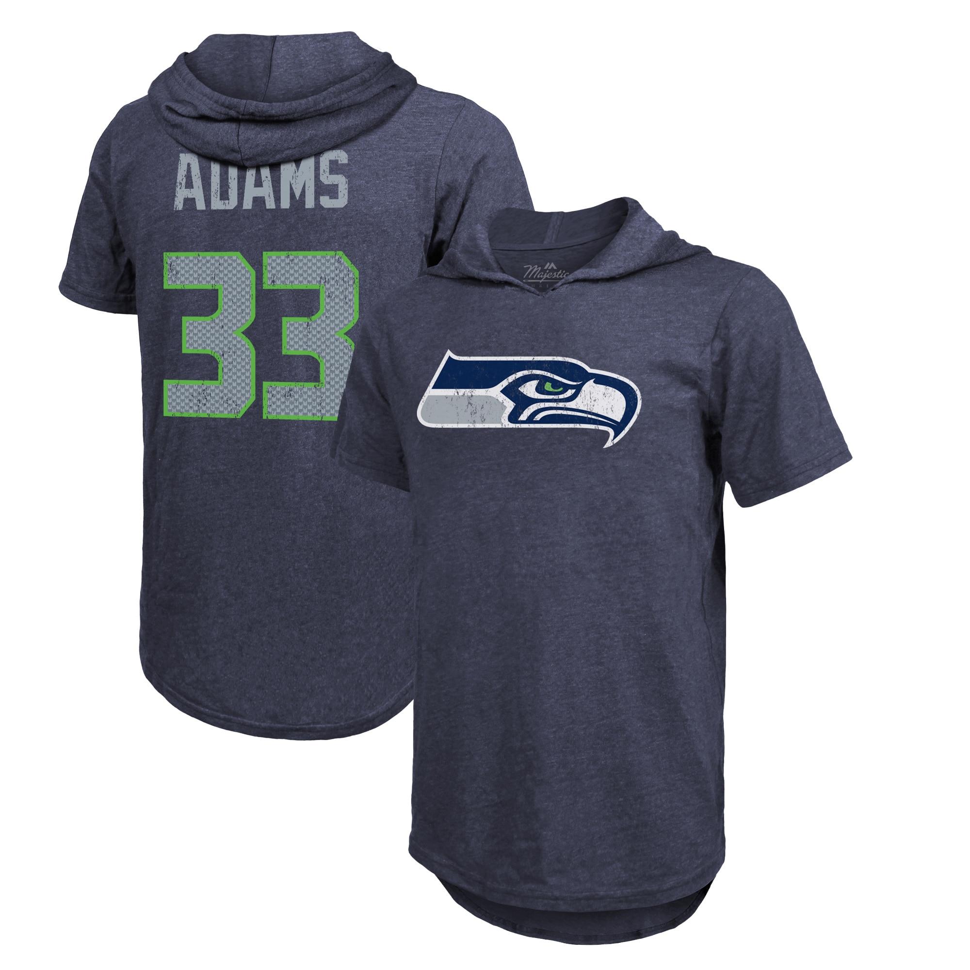 Jamal Adams Seattle Seahawks Fanatics Branded Player Name & Number Hoodie T-Shirt - College Navy