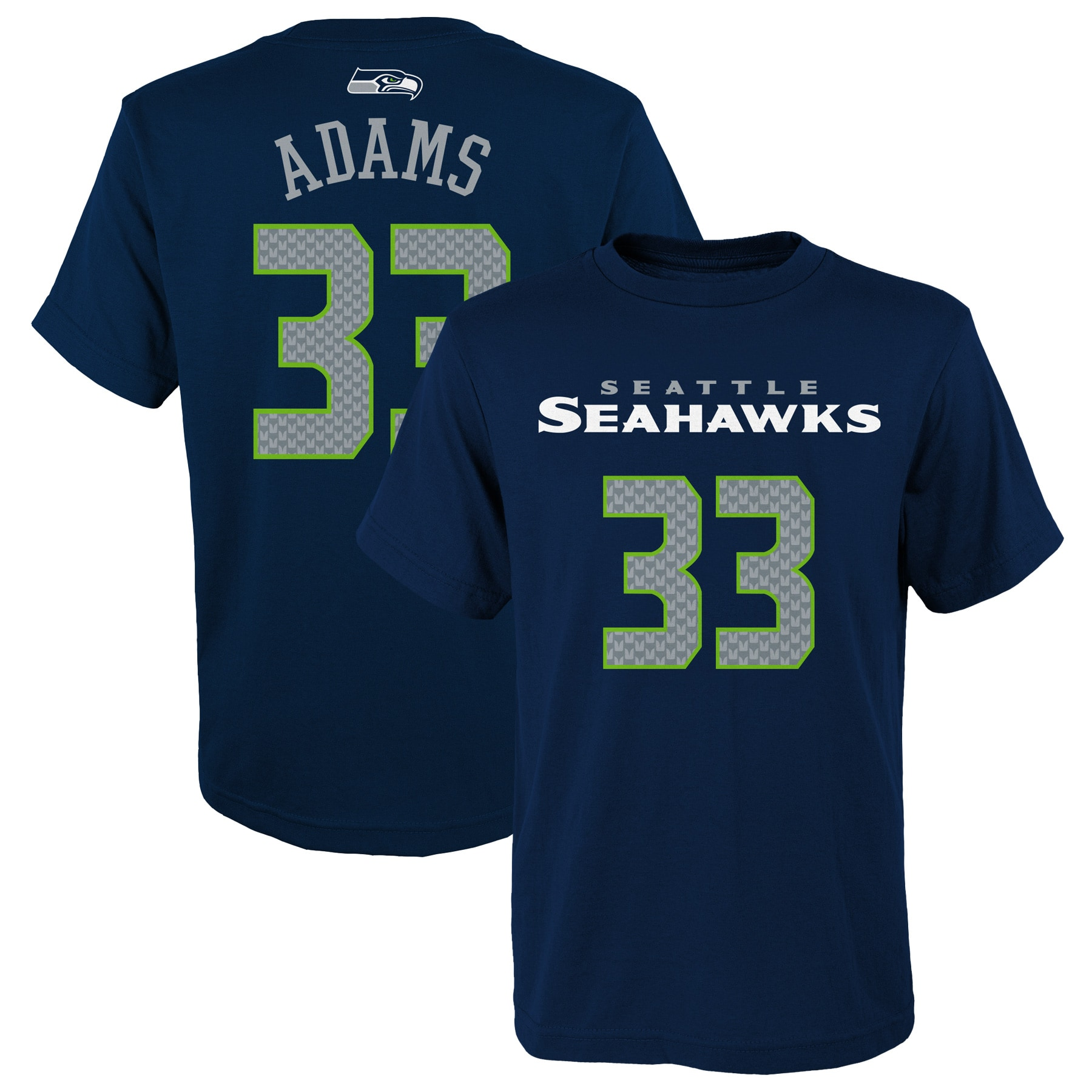 Jamal Adams Seattle Seahawks Youth Mainliner Player Name & Number T-Shirt - College Navy