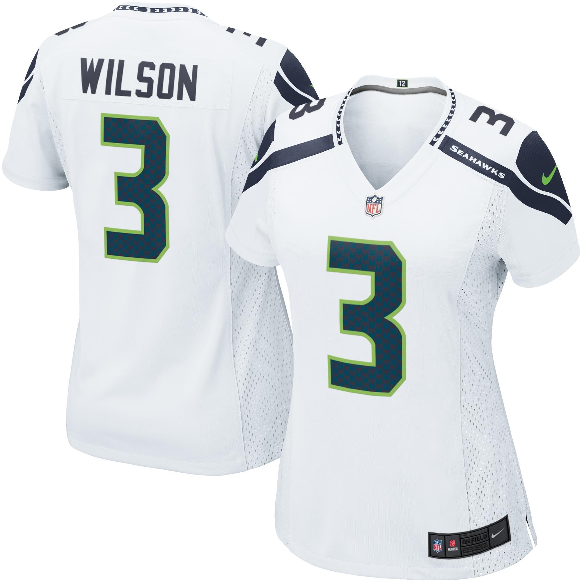 Russell Wilson Seattle Seahawks Nike Women's Game Jersey - White