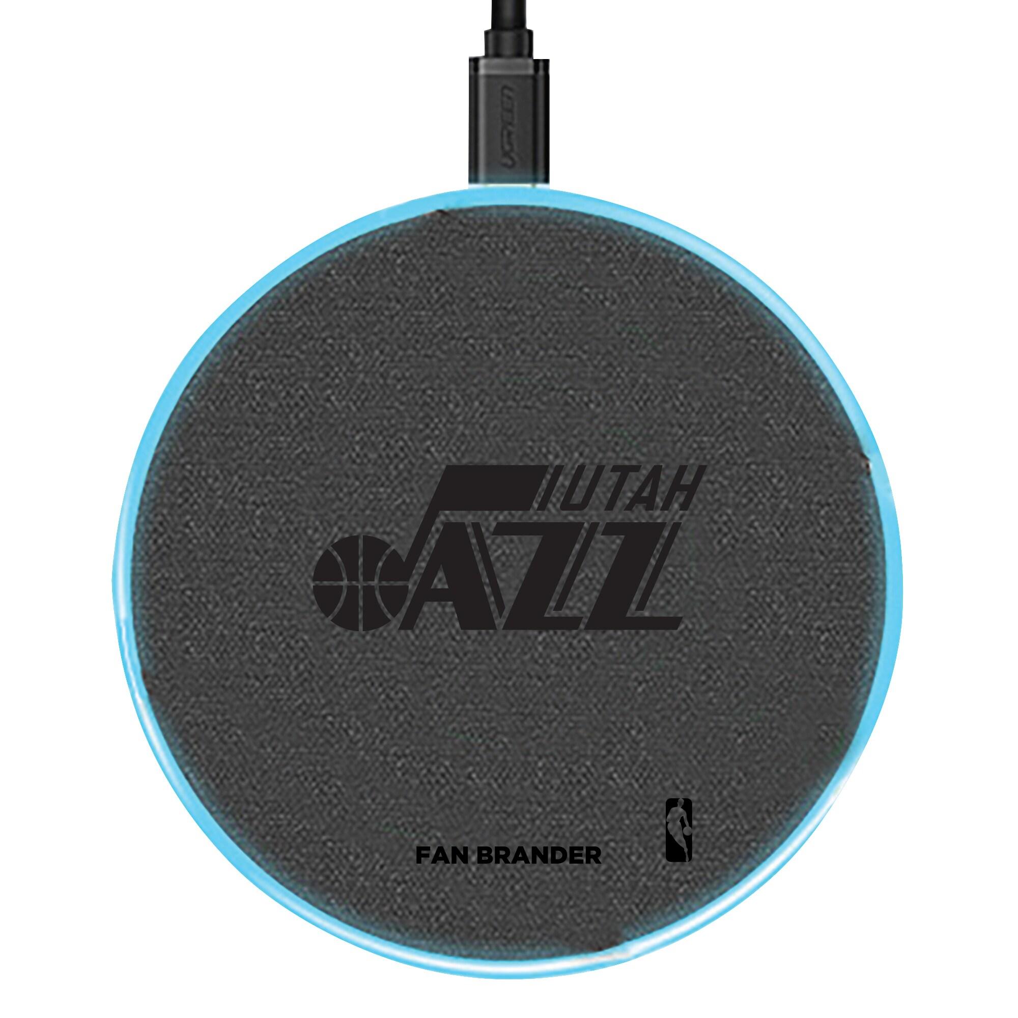 Utah Jazz 15W Laser Etched Wireless Charging Base - Gray