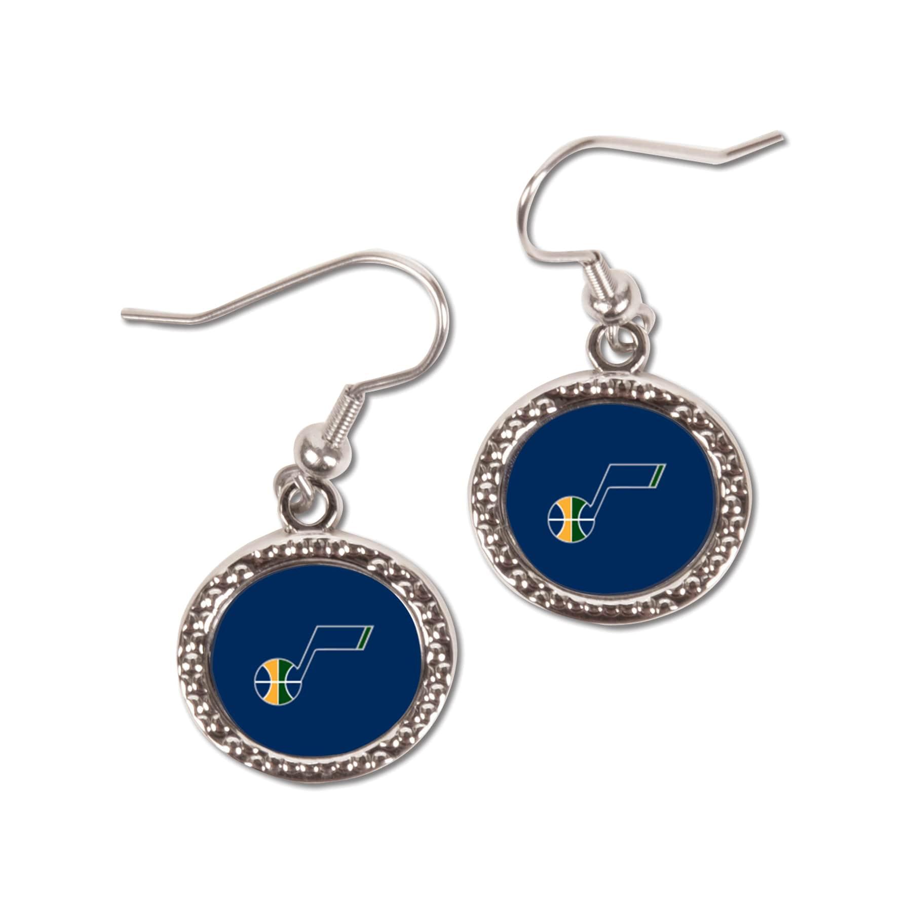 Utah Jazz WinCraft Women's Round Dangle Earrings