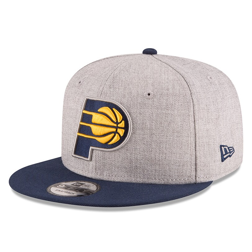 Indiana Pacers New Era 2-Tone 9FIFTY Adjustable Snapback Hat - Heathered Gray/Navy